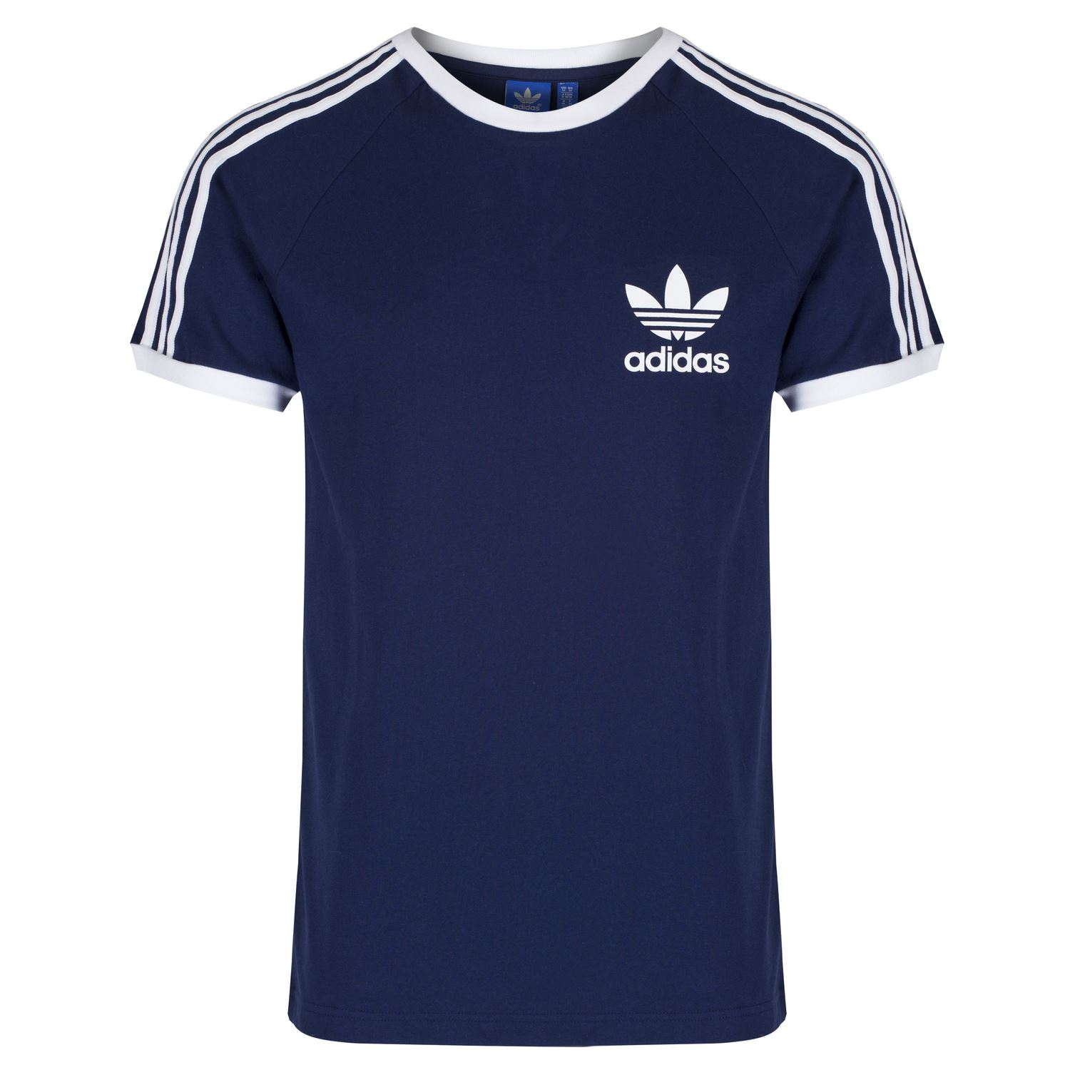 buy online new lower prices various design adidas ORIGINALS CALIFORNIA T SHIRT MEN'S CREW NECK TOP BLUE WHITE GREY NAVY