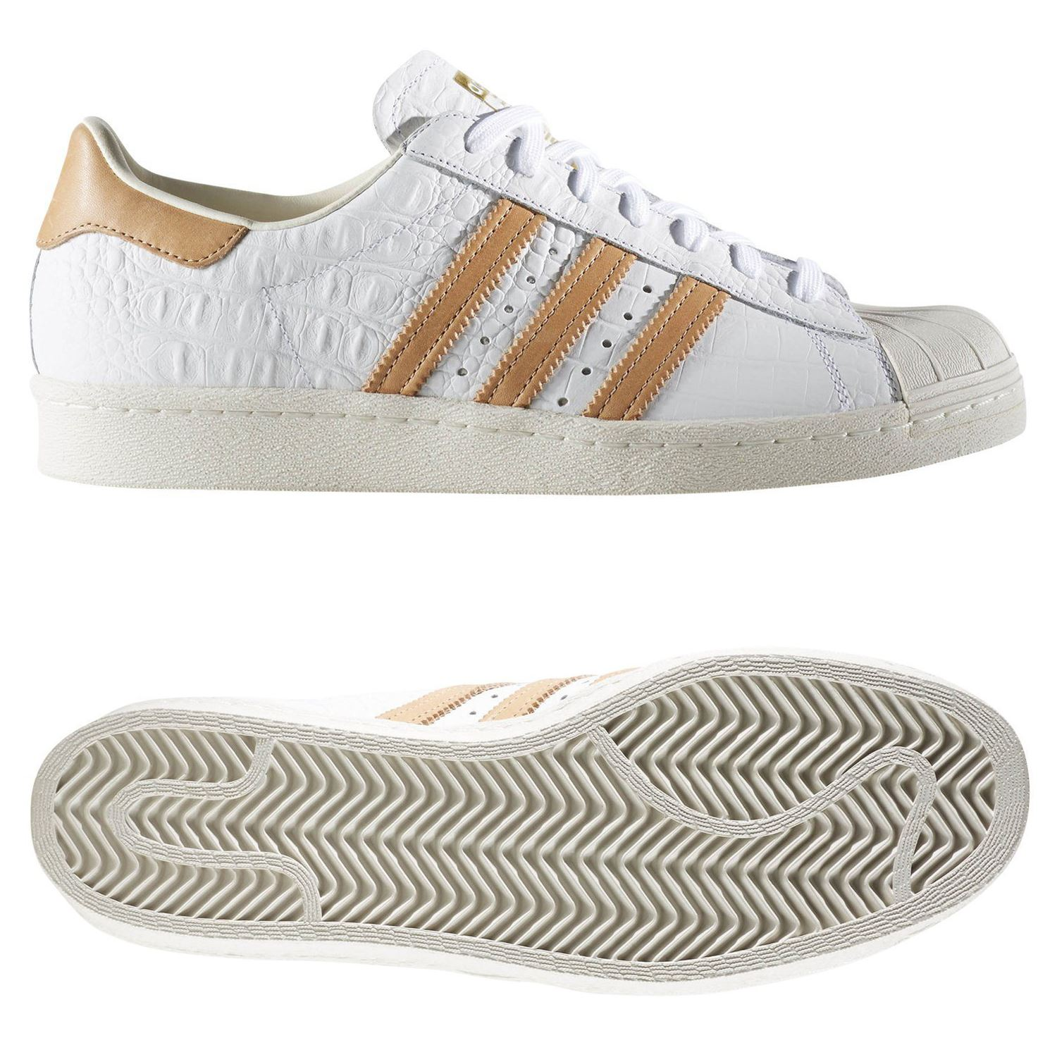 watch ac3eb 02c0d SUPERSTAR 80 entrenadores blanco zapatos zapatillas RETRO raro Hombres  Adidas ORIGINALS