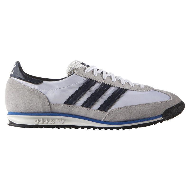 Details zu Adidas Original HERREN Sl 72 Vintage Turnschuhe Schwarz Marineblau Weiß