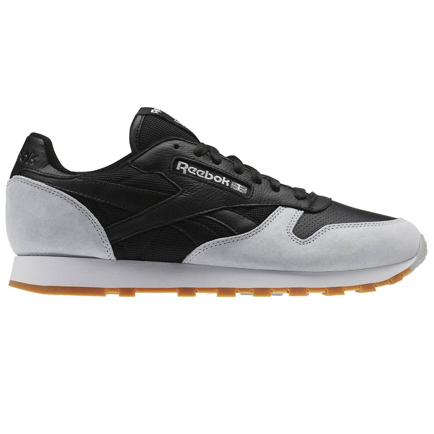 new product 2a654 b1381 Details about REEBOK CLASSIC KENDRICK LAMAR PERFECT SPLIT TRAINERS LEATHER  BLACK GREY MEN S