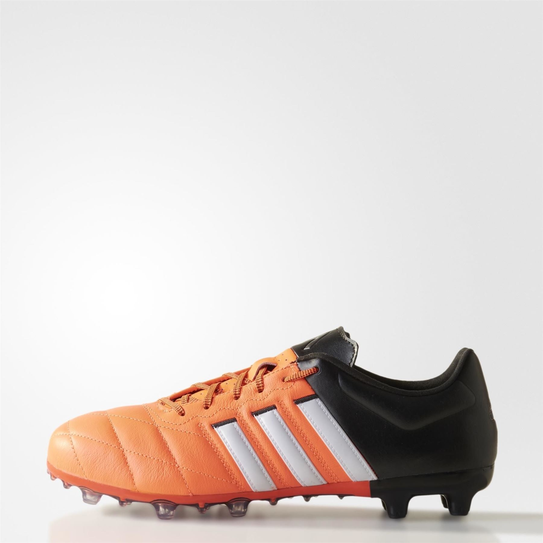 49fbf3b5412 adidas ACE 15.2 FG AG FOOTBALL BOOTS BLACK ORANGE SOCCER 5 A SIDE 4G ...