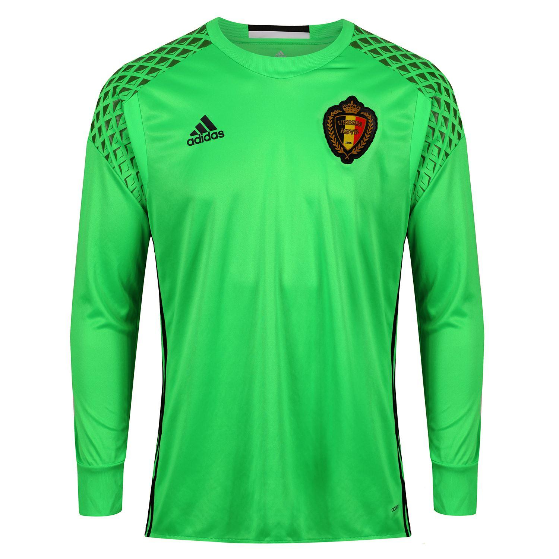Adidas Belgien Torwart Trikot Grün Fußball Euro HERREN Neu mit Etiketten Ausländische Vereine Belgische Vereine