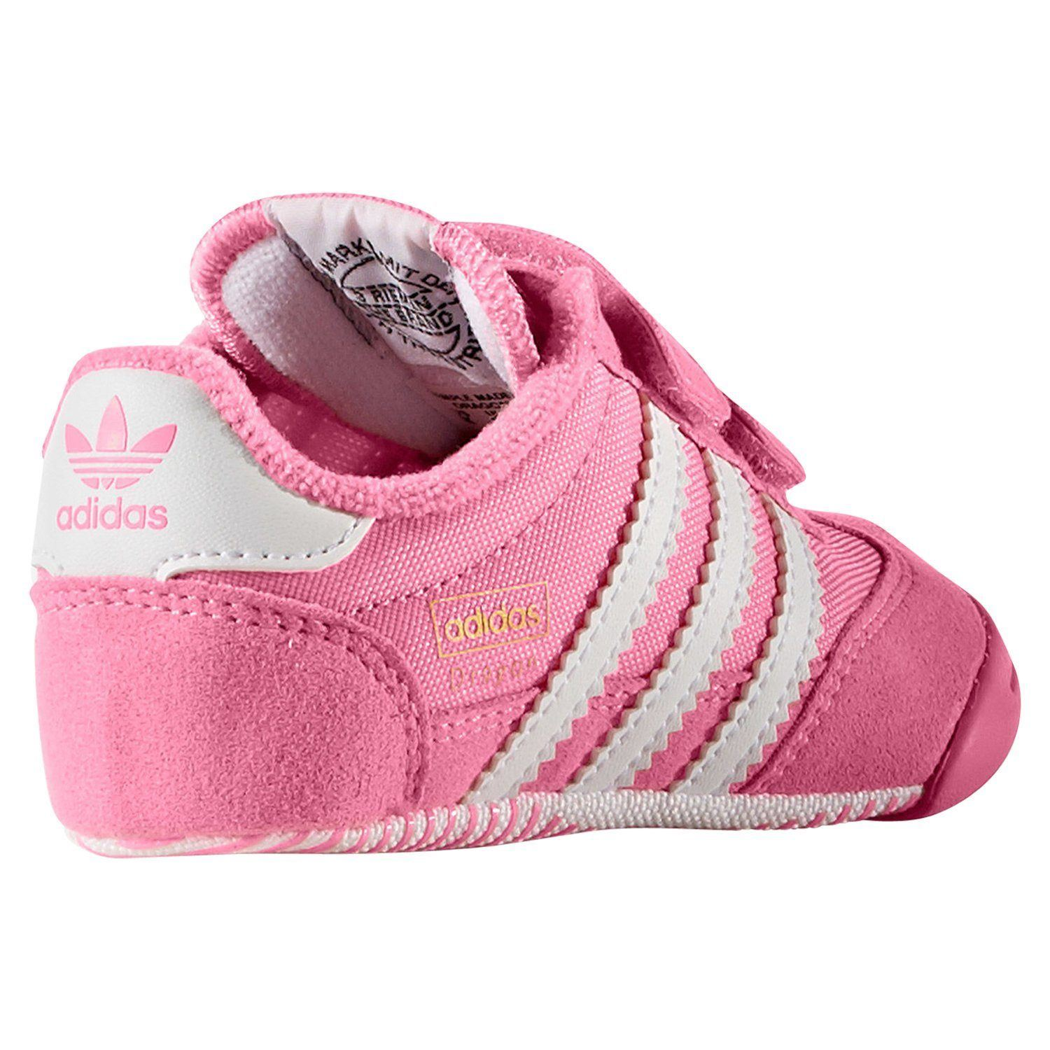 cf27e58cc852 adidas ORIGINALS DRAGON L2W CRIB TRAINERS PINK BOOTIES SHOES BABY KIDS GIRLS  NEW
