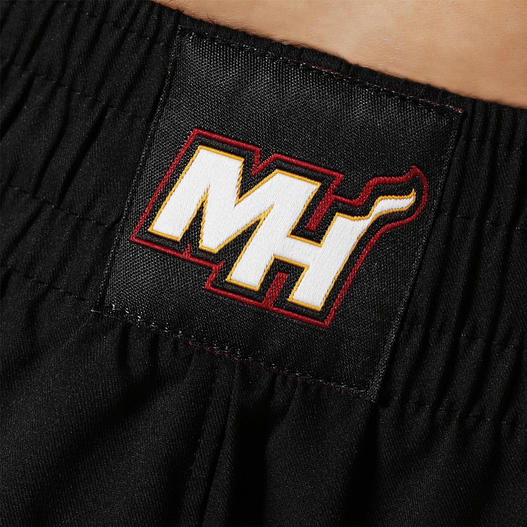 adidas MIAMI HEAT INTERNATIONAL NBA SWINGMAN SHORTS BLACK BASKETBALL MEN S 2799f63f6c2f