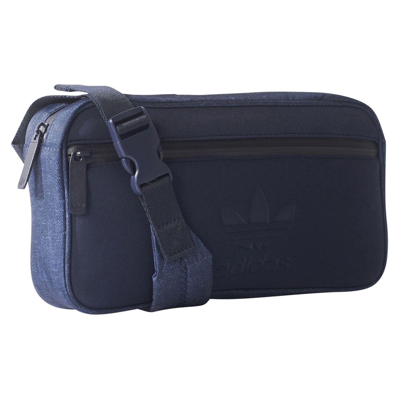 19ba1bbd40 adidas ORIGINALS DENIM INSPIRED CROSSBODY BAG INDIGO NAVY BUM BAG FESTIVALS  NEW