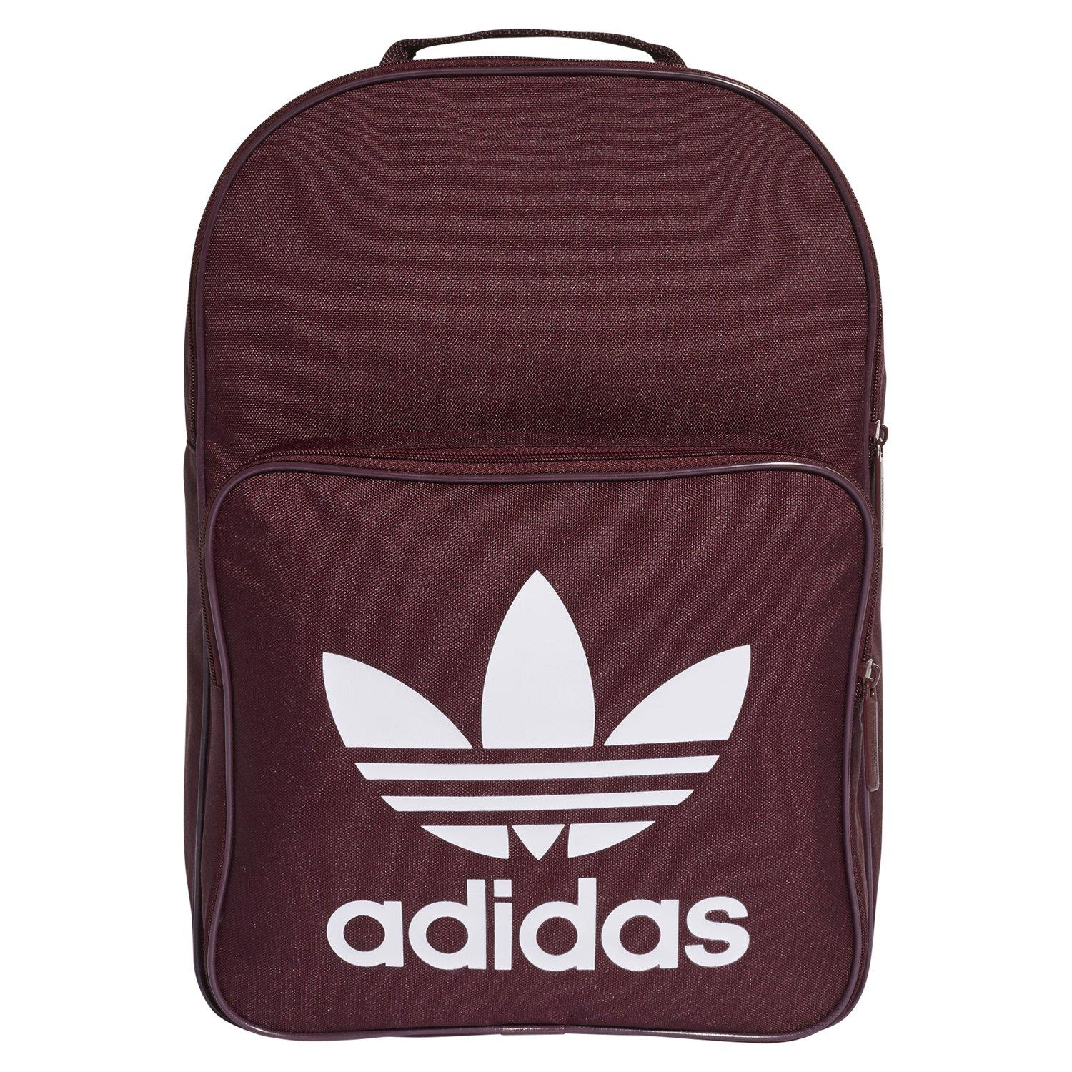 4e330b6bd00 adidas ORIGINALS CLASSIC TREFOIL SCHOOL BACKPACK RED MAROON BACK TO COLEEGE