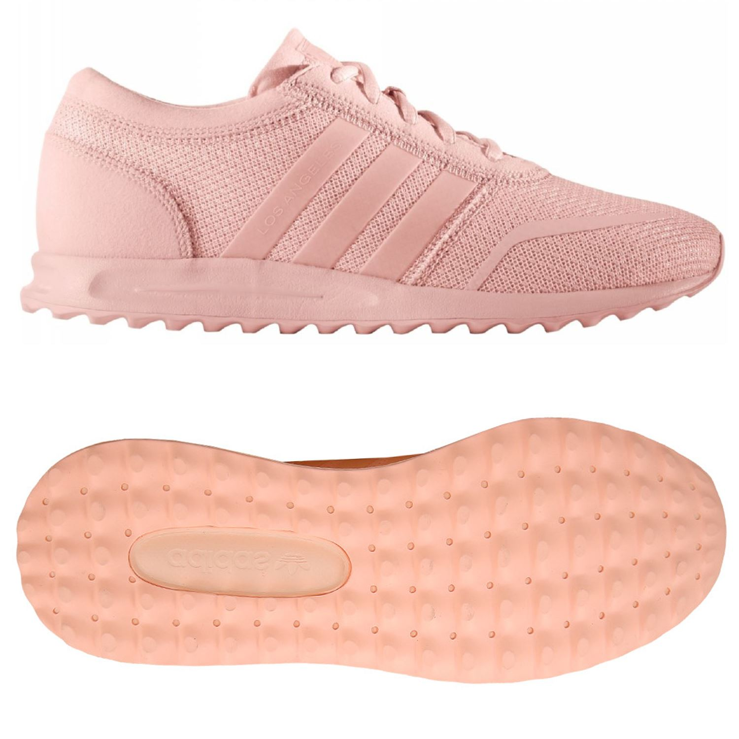 1910b395d9ae adidas ORIGINALS LOS ANGELES TRAINERS PINK GIRLS WOMEN S JUNIOR SHOES  SNEAKERS
