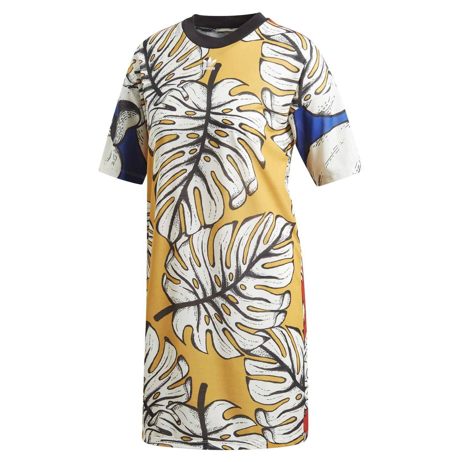Details about adidas ORIGINALS X FARM WOMEN'S GRAPHIC TEE DRESS FRUIT DEADSTOCK RARE CASUAL