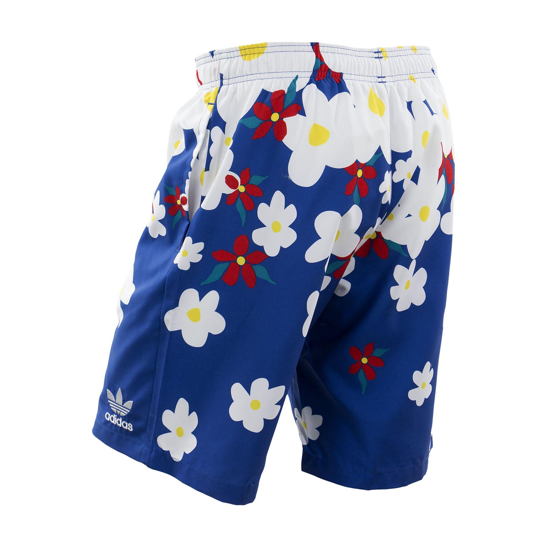 Détails sur Adidas Originaux Pharrell Williams Marguerite Short Natation Bleu Hawaïen Été