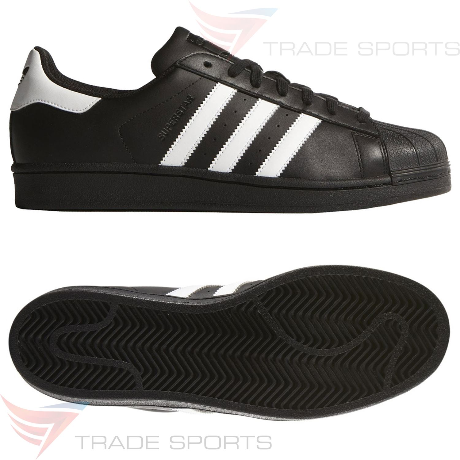 Détails sur Adidas Originaux Superstar Foundation Baskets Noir Blanc Run DMC Hip Hop Shoes