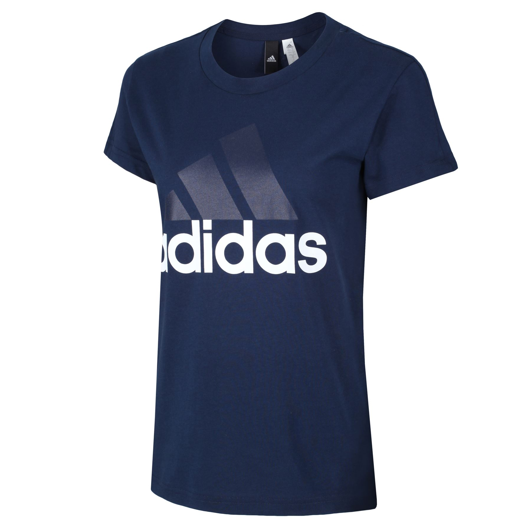 adidas-WOMEN-039-S-ESSENTIALS-LINEAR-T-SHIRT-GYM-BLACK-PINK-WHITE-NAVY-GIRLS-LADIES thumbnail 14
