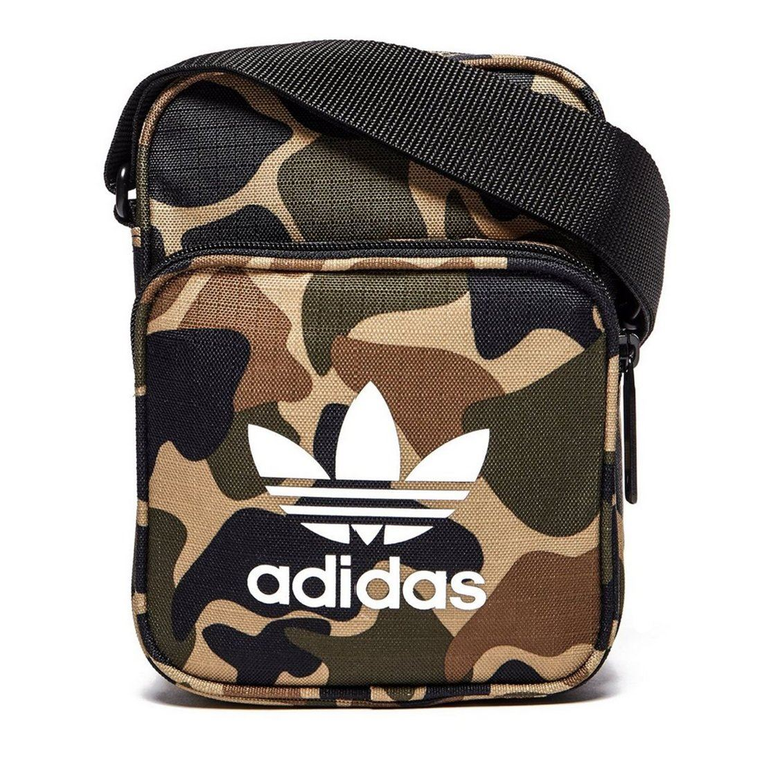 524bbbc35137 Details about adidas ORIGINALS MEN S MINI FESTIVAL BAG MULTI CAMO TREFOIL  HOLIDAYS KEYS CASH