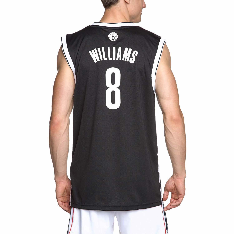 5049bfcd9bae4 Adidas SUMMER BROOKLYN NETS DERON WILLIAMS Maillot NBA BASKETBALL gilet noir