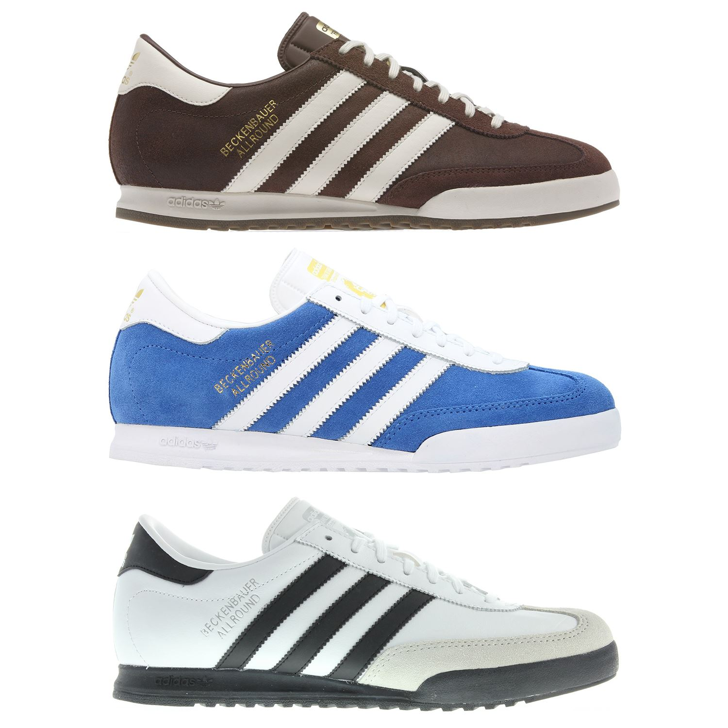 super popular 797bf 1777e Details about ADIDAS ORIGINALS MEN S TRAINERS BECKENBAUER ALL ROUND BLUE  WHITE BLACK BROWN