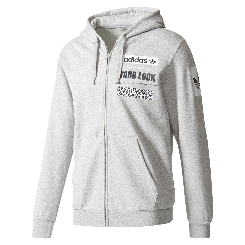Adidas ORIGINALS STREET GRAPHIC HOODIE grau Herren warme PULLOVER Jacke  TREFOIL 2fb81666a7