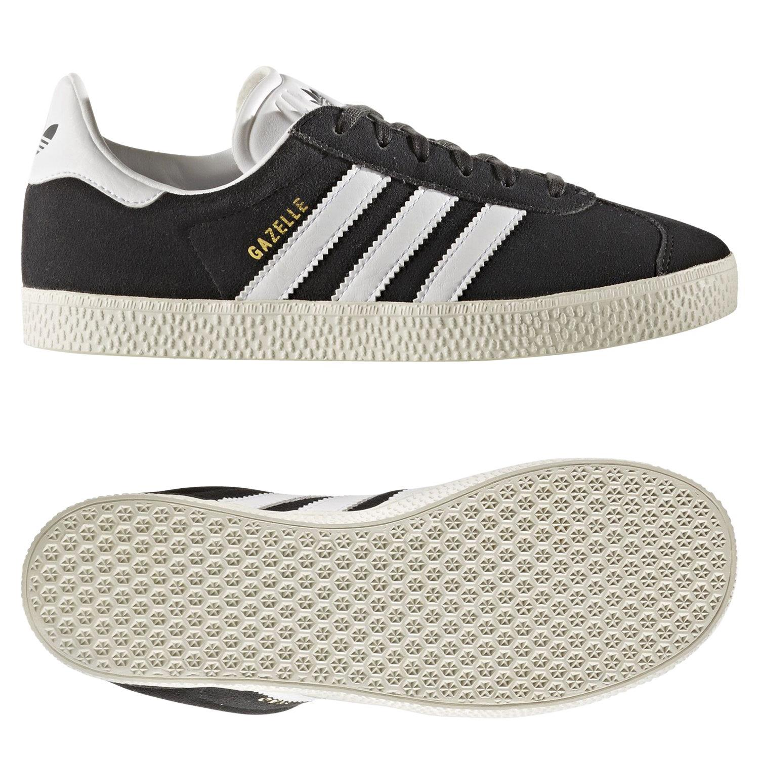 Details about adidas ORIGINALS GAZELLE TRAINERS GREY TREFOIL JUNIOR KIDS SHOES SNEAKERS SPORTS