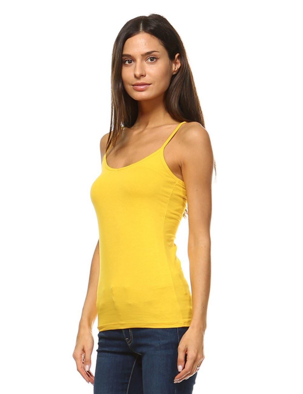 NEW ANNA WOMEN/'S SPAGHETTI STRAP CAMISOLE 6 PACK TANK TOP 5CAMI 6 COLOR S,M,L,XL
