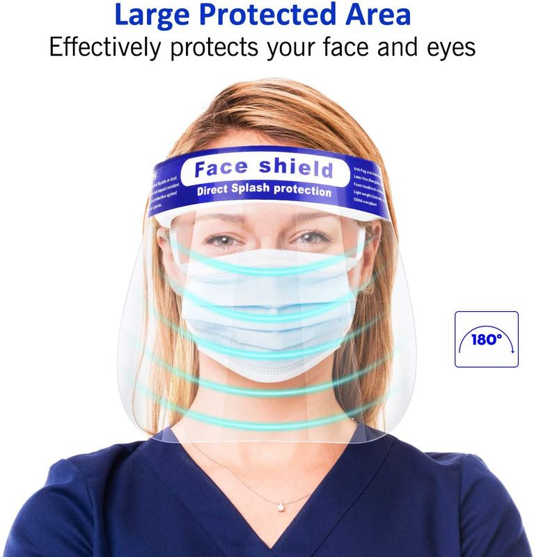 1 Box of Multicolored Disposable Eye Safety Protection Glasses 10 pieces//box 10 Eye Shields by ICU Health Anti-Fog in 5 Colors Transparent