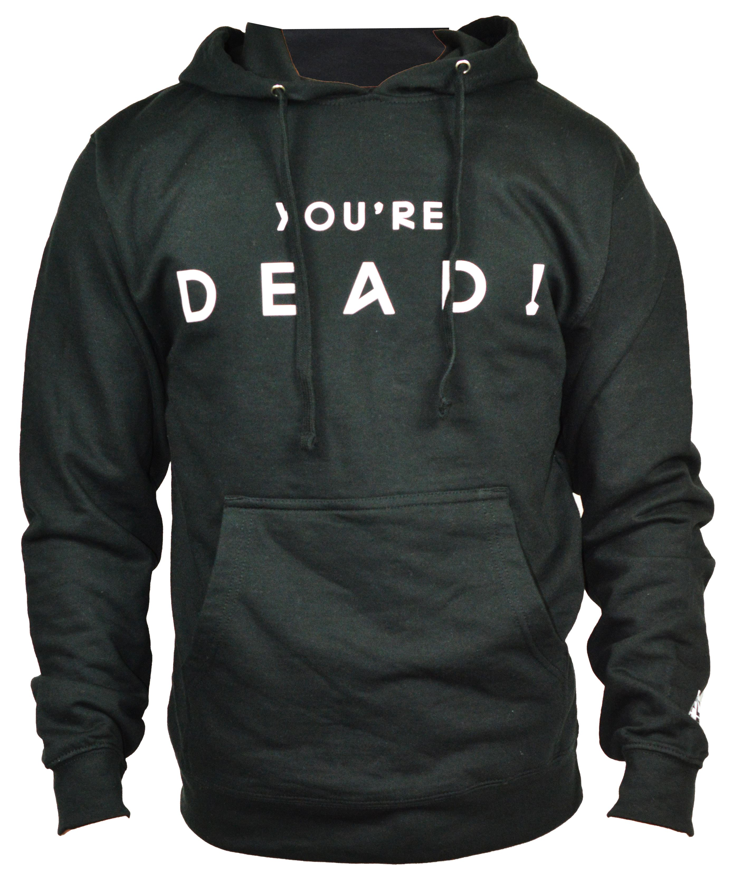 OFFICIAL-FLYING-LOTUS-039-YOU-039-RE-DEAD-039-TOUR-MERCH-MEN-039-S-HOODIE-BLACK-039-XL-039-MSRP45