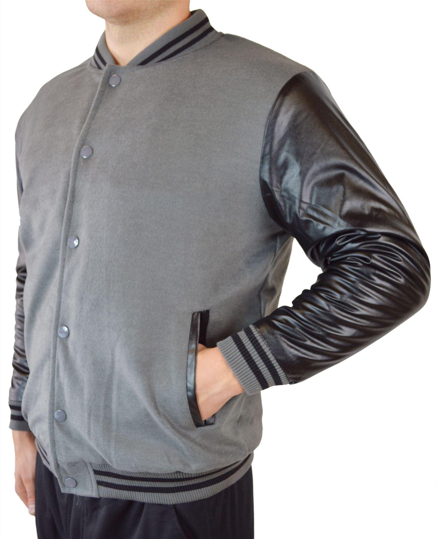 New Maximos Mens Letterman Varsity Two Tone Baseball Jacket Bomber Jaket Unisex Nevy Condition With Tags