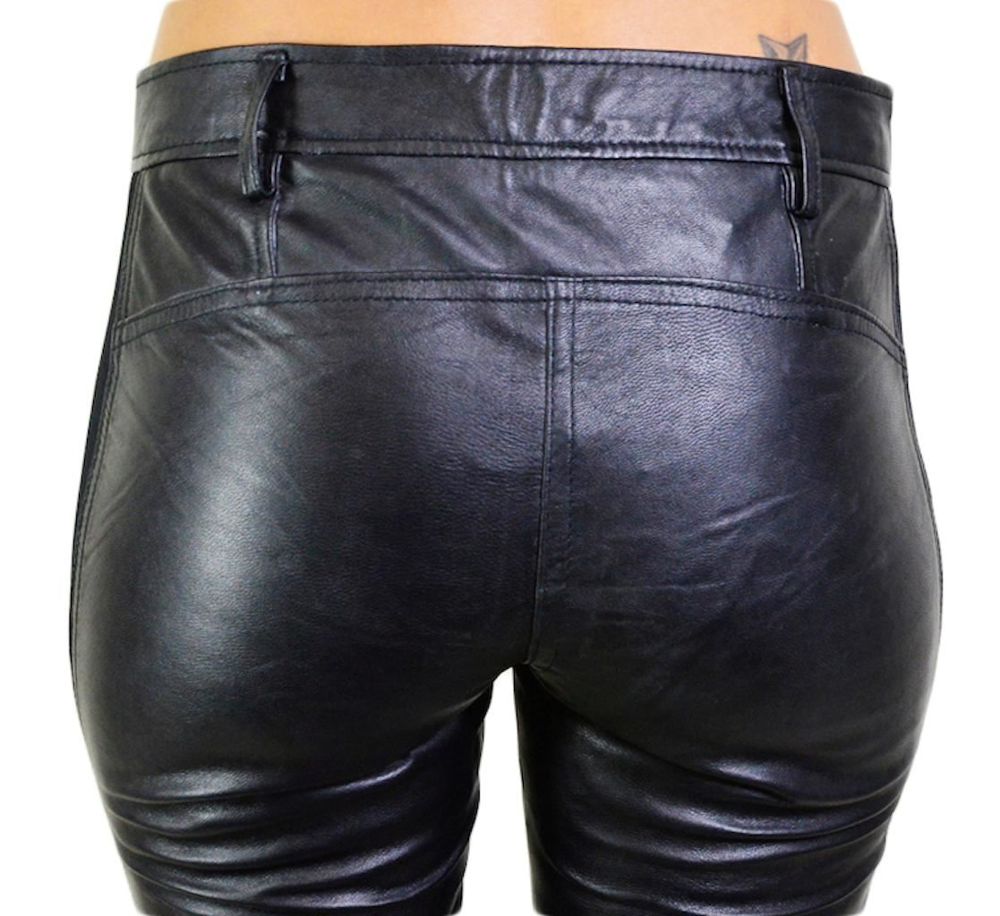e8e33345297d9 NWT WILLIAM RAST WOMEN'S FITTED LEATHER PANTS WITH SIDES PANELS ...