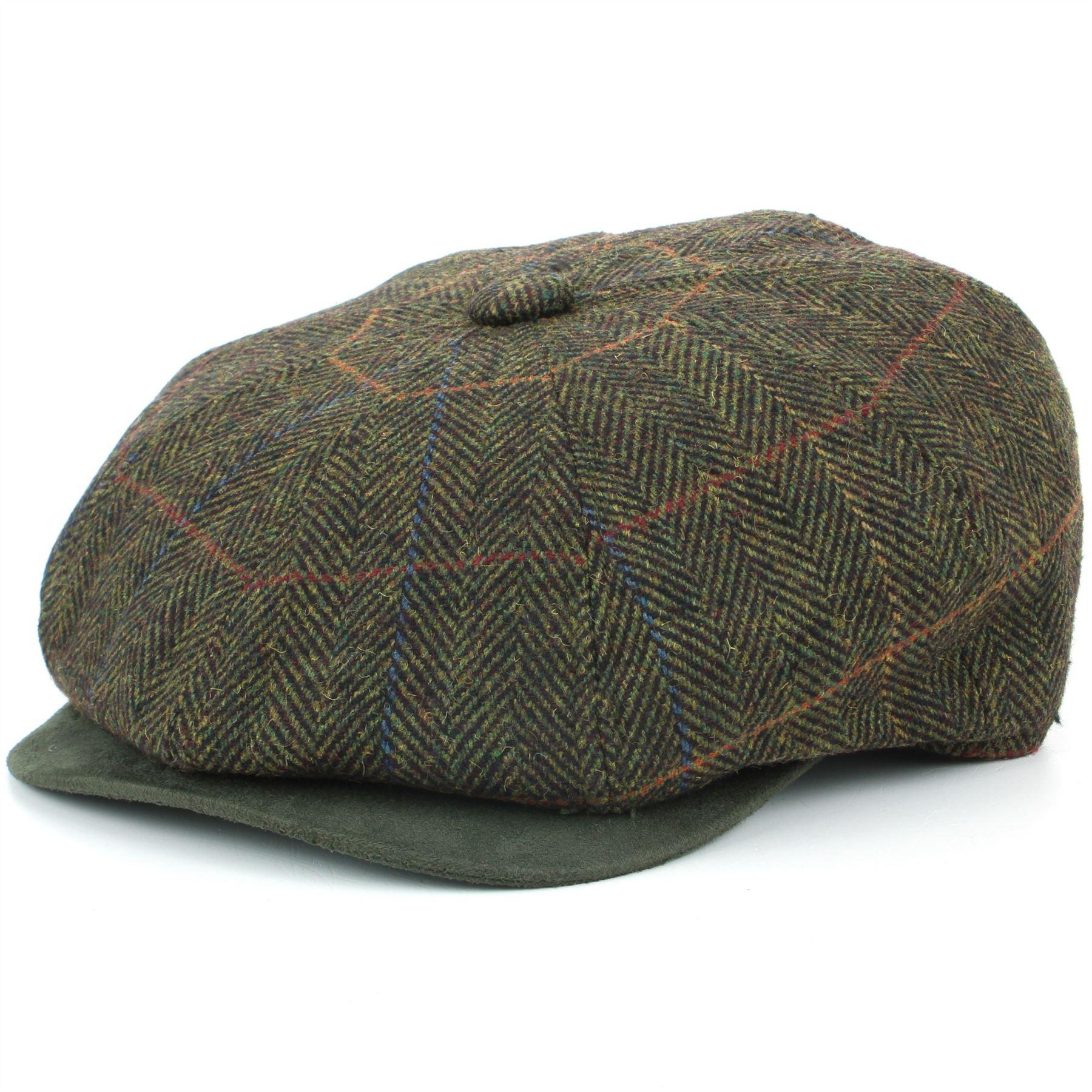 ce97fe1ebed90 Tweed Gatsby Newsboy Hat BLUE GREEN Flat Cap Peaky Blinders Hawkins ...
