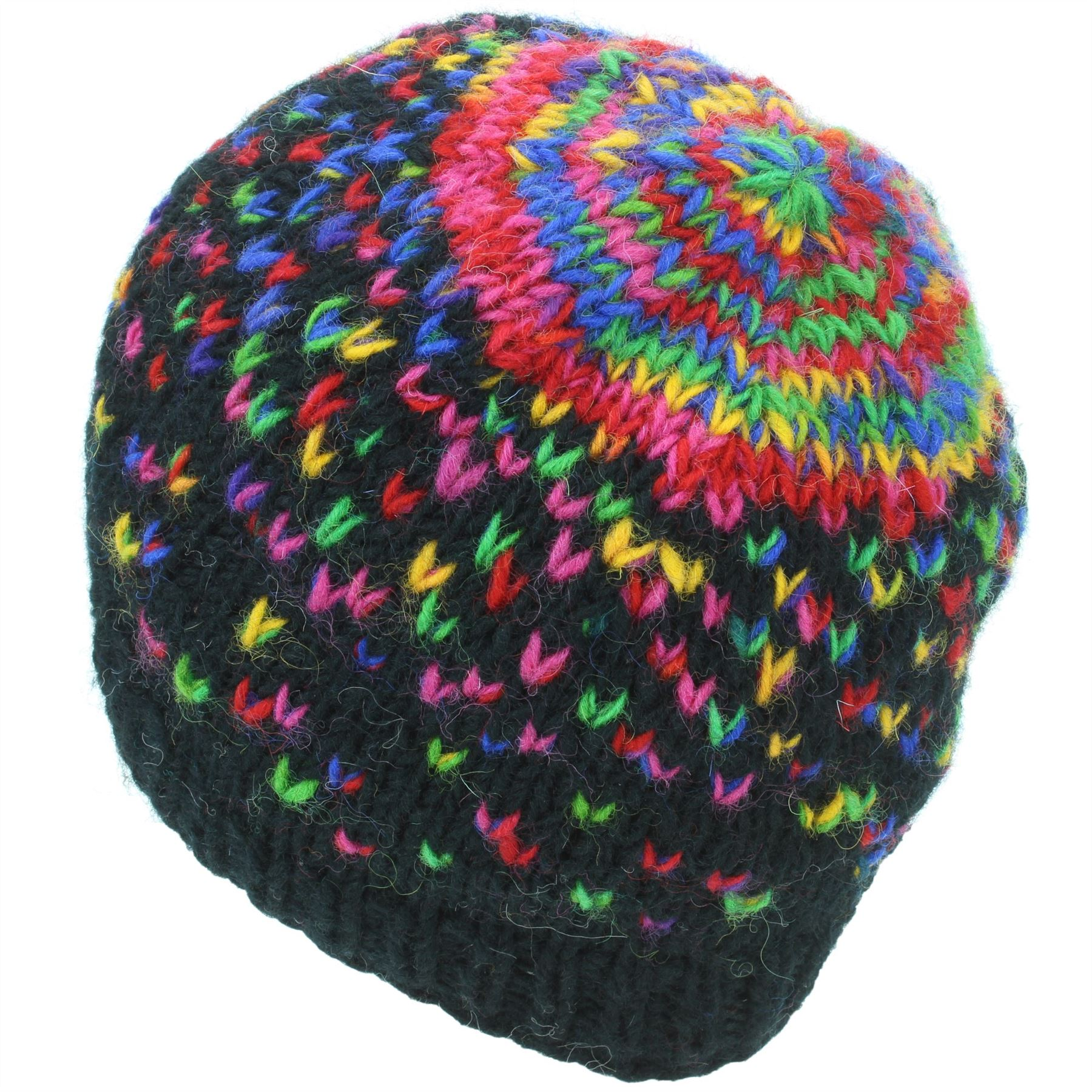 df9f4850e5a Beanie Hat Wool Cap Warm Winter Colourful Soft Lined LoudElephant ...