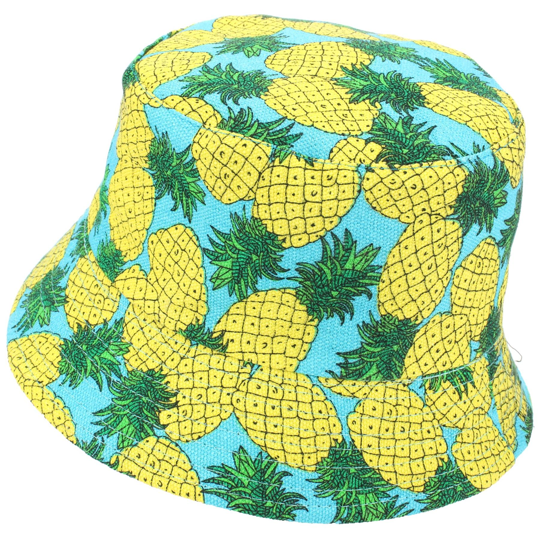 Printed Bucket Hat Firefly Summer Boonie Outdoor Festival Cap