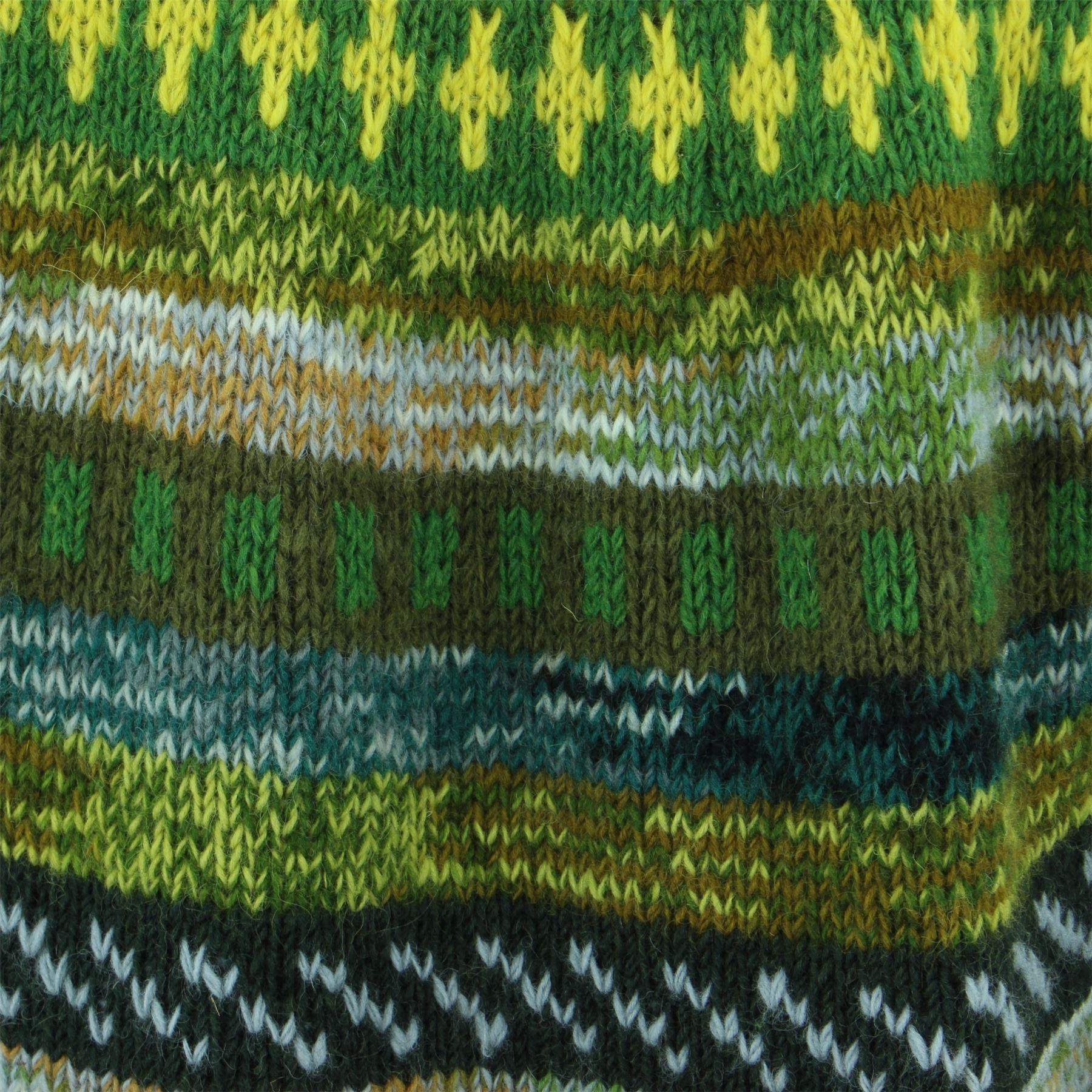 thumbnail 11 - Wool Knit Jumper Sweater Pullover Fairisle Nordic Abstract Warm Nepal Loose