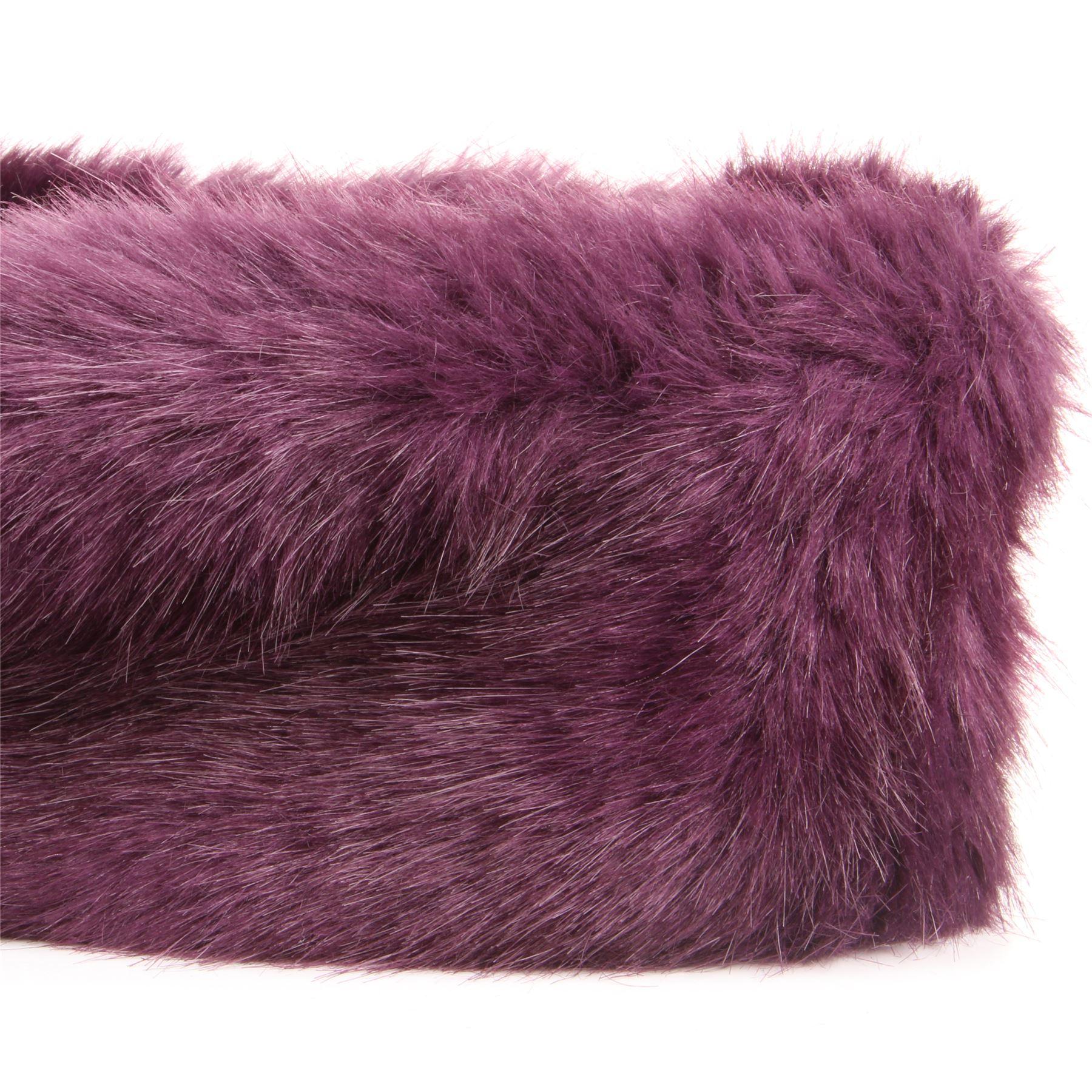 Faux Furry Headband Hawkins Ladies Winter Ski Ear Fleece Lining Head ... d0ea1a7a644