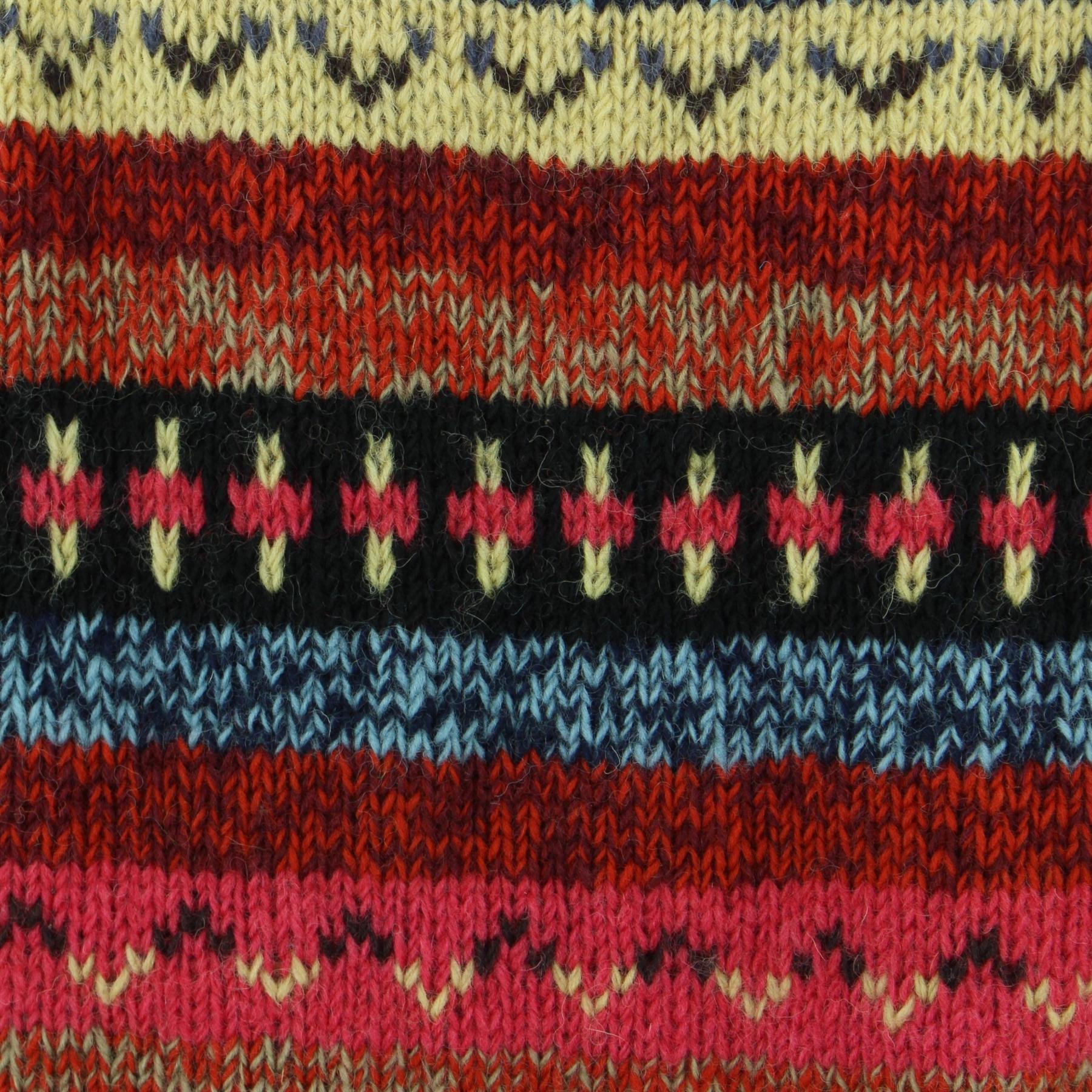 thumbnail 17 - Wool Knit Jumper Sweater Pullover Fairisle Nordic Abstract Warm Nepal Loose