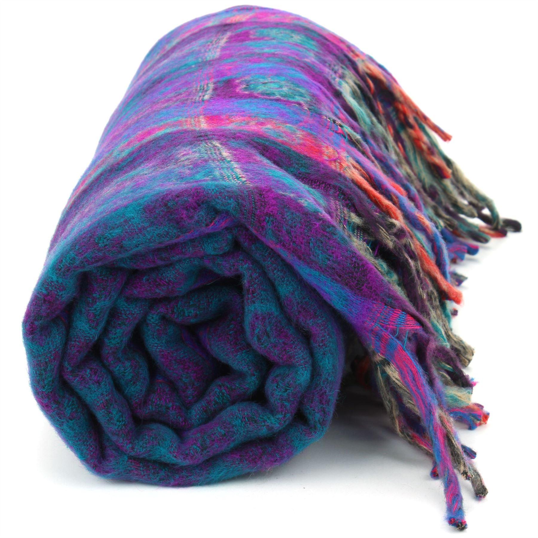 Acrylic-Wool-Blanket-Shawl-Wrap-Throw-Finest-Softest-India-Stripe-Paisley-Travel thumbnail 24