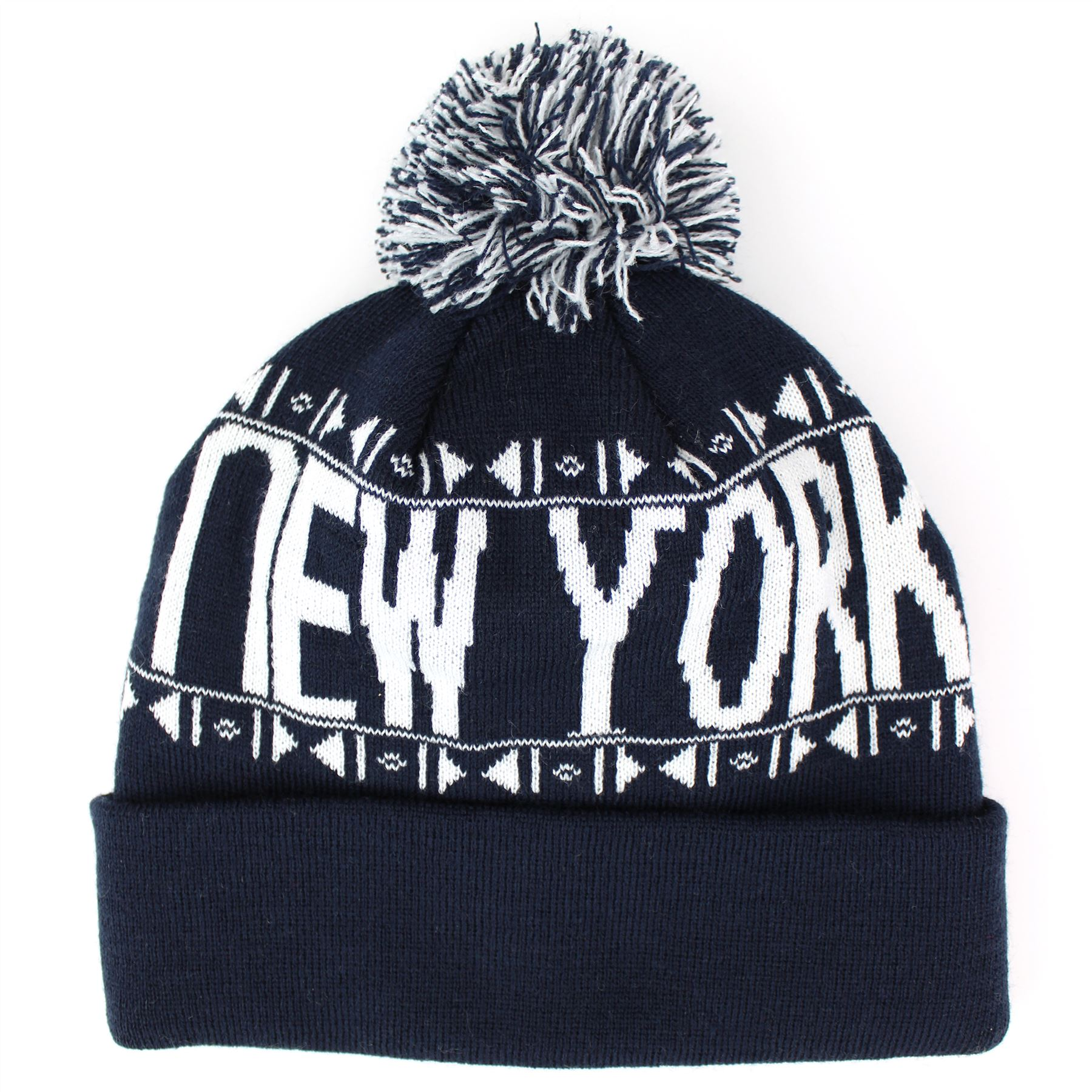 Beanie Bobble Hat Fine Knit La Ny Los Angeles New York Hawkins ...