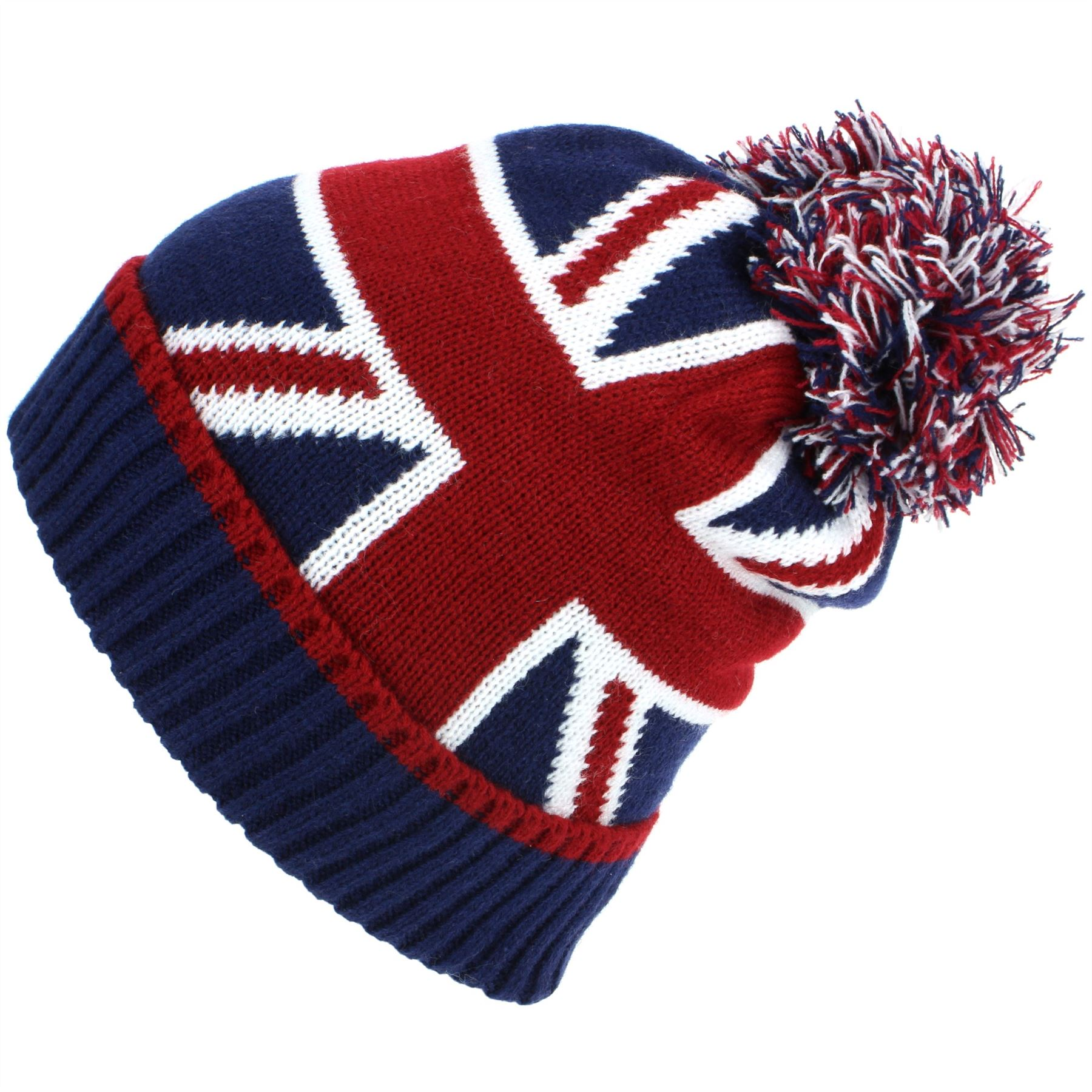 f35dc36322c Beanie Hat Cap Bobble Warm Winter UNION JACK Macahel Soft Lining Men ...