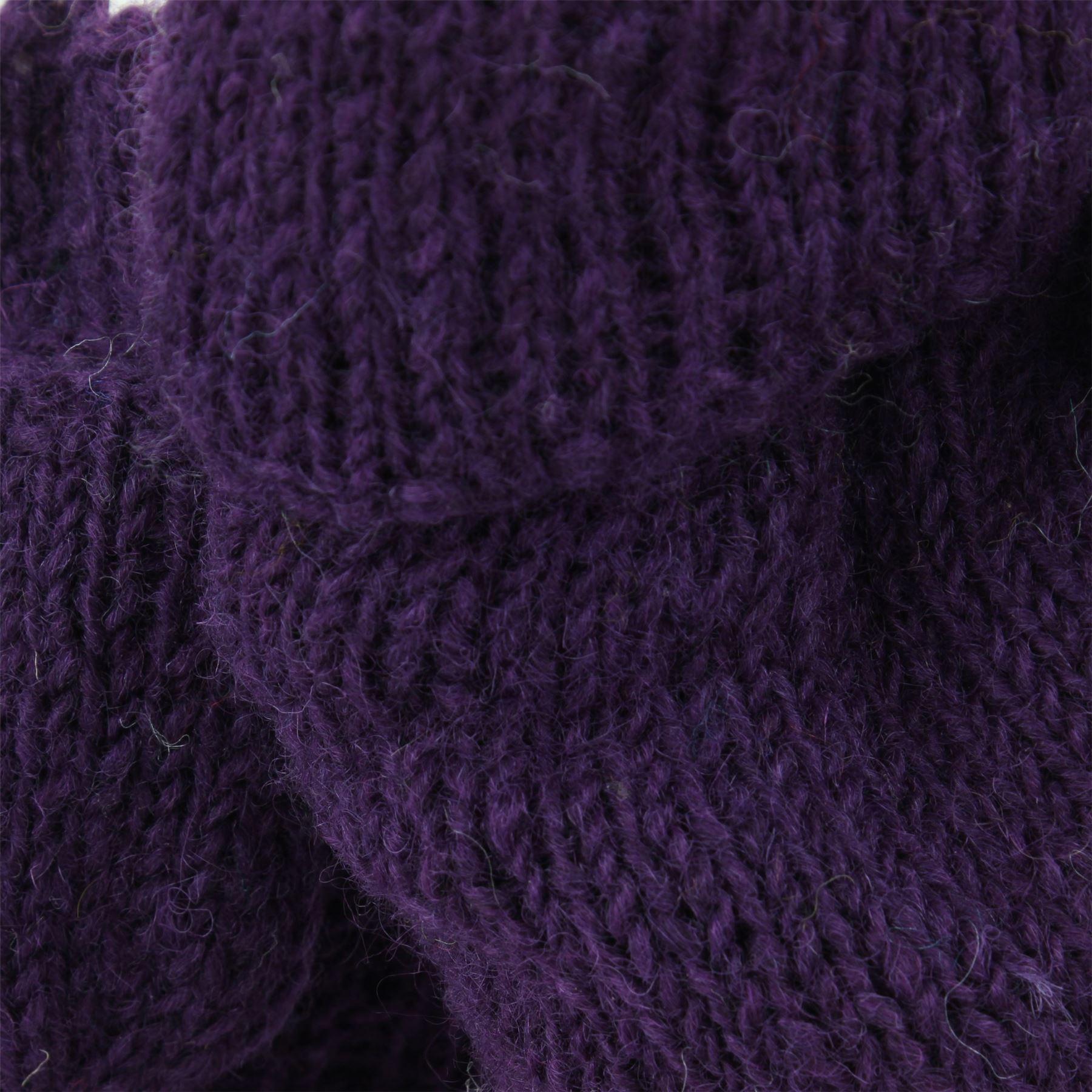 Wool-Gloves-Mittens-Fingerless-Shooter-Lined-PLAIN-Knit-Handmade-LoudElephant miniatura 13