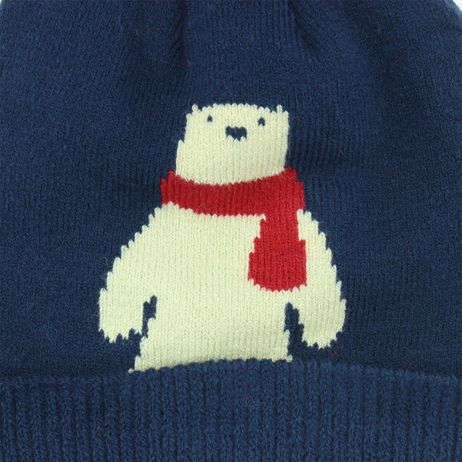 Beanie Hat Cap Winter Warm Kids Childrens Pom Penguin Polar Bear ... ab93cc397998