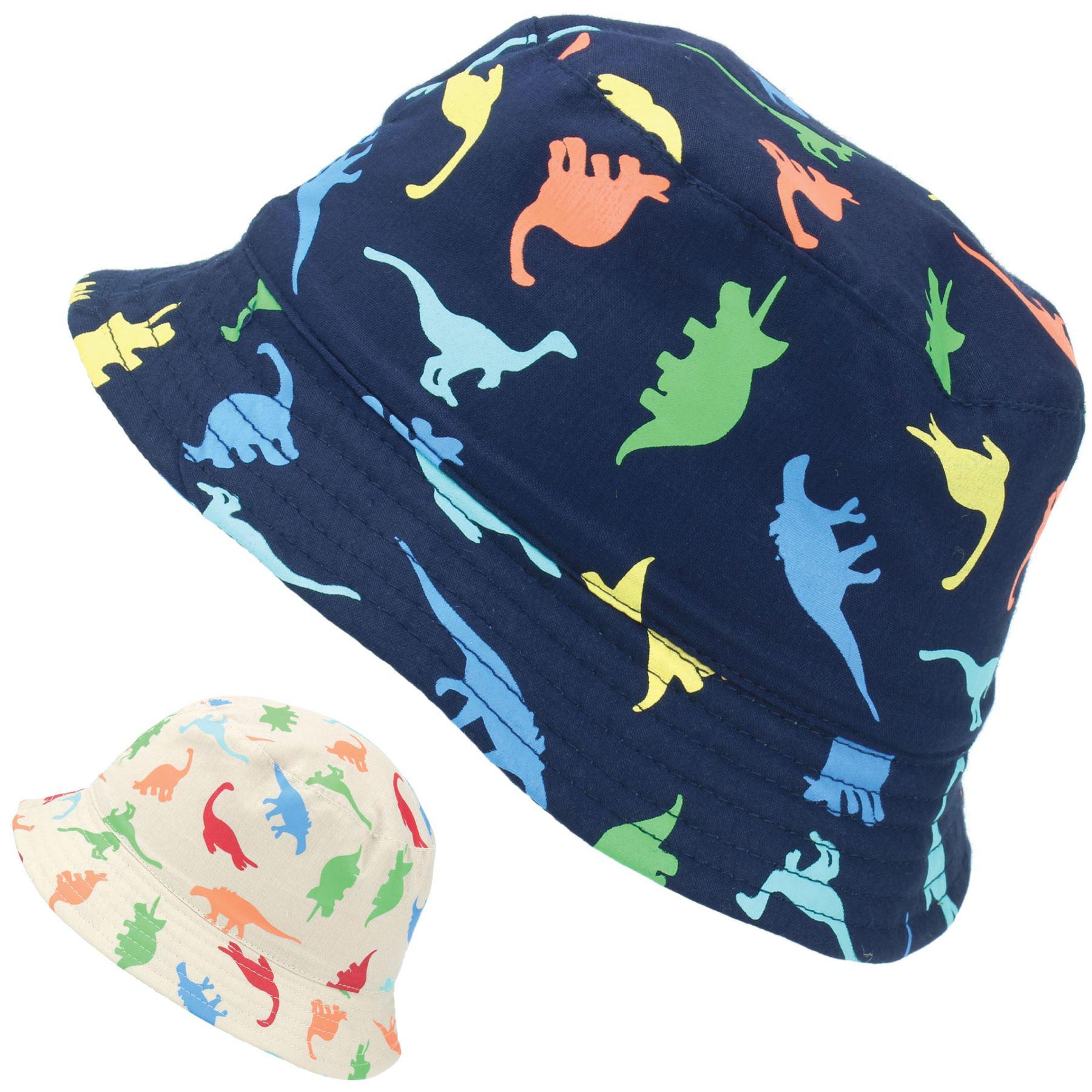 Children Boys Cartoon Dinosaur Bucket Hat Cotton Summer Beach Kids Baby Sun Cap Baby Accessories Hats