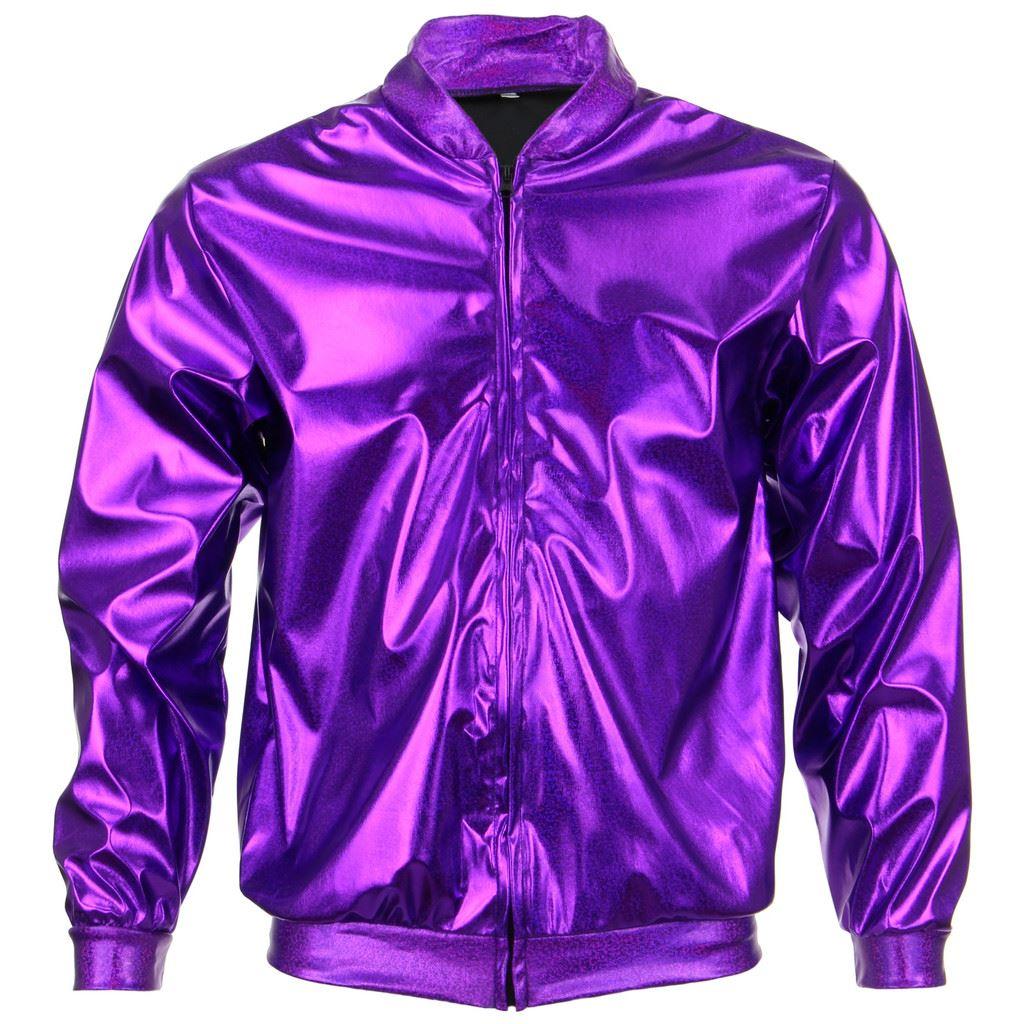 Bomber-Jacket-Shiny-Unisex-Ladies-Men-FIREFLY-Sparkly-GOLD-SILVER-RAINBOW-PURPLE thumbnail 16