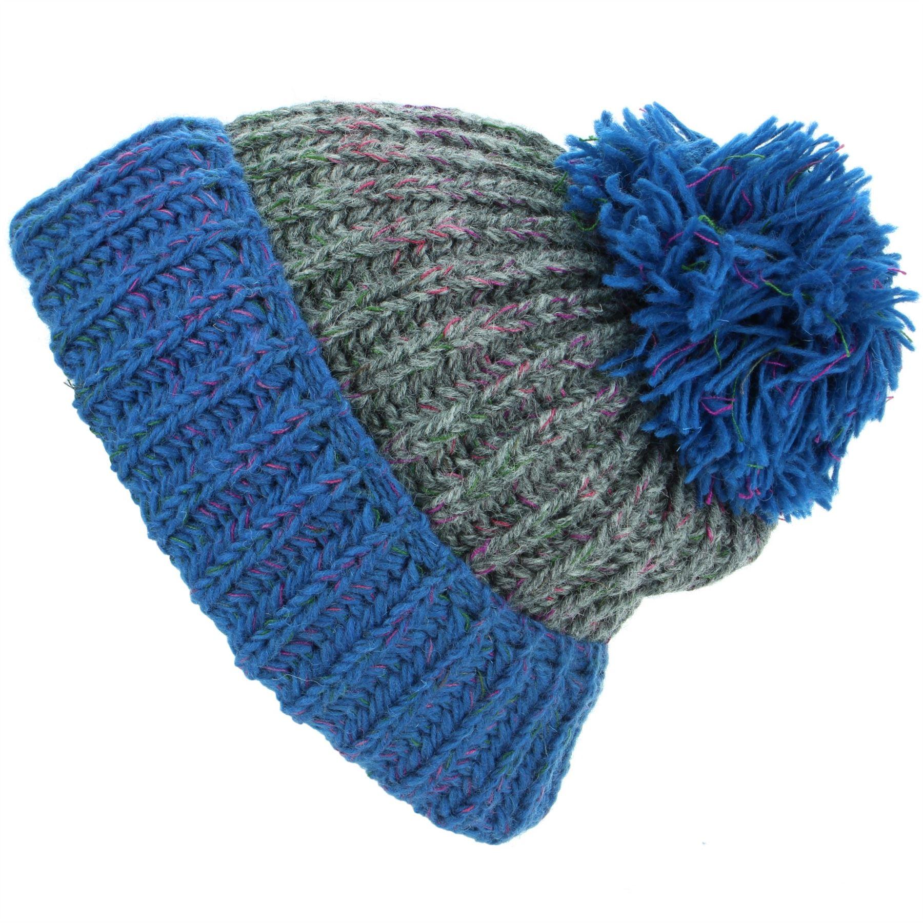aa6d8b28345 Wool oatmeal Grey Beanie grey Knit Winter Bobble Grey Loudelephant Cream  dark navy Cream Warm Cap Blue Pink Hat purple Ribbed Lined amp  Ski Dark  q15CS