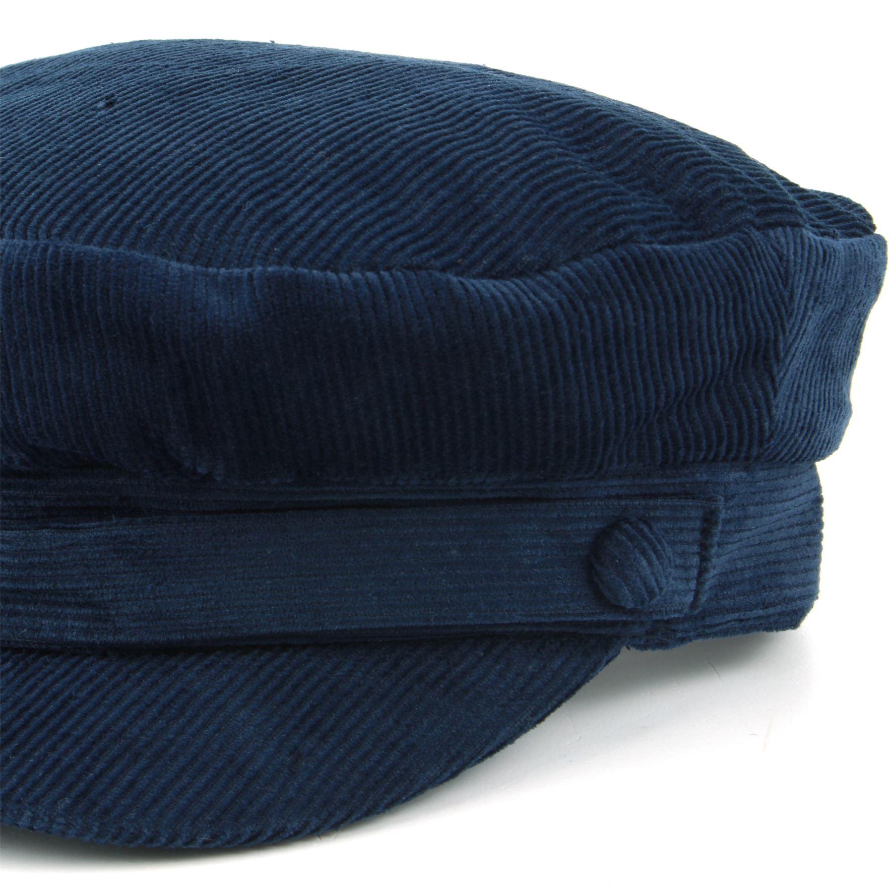 8686758239e Captain s Cap Breton Hat Cord BLACK NAVY BLUE Mariner Lennon ...