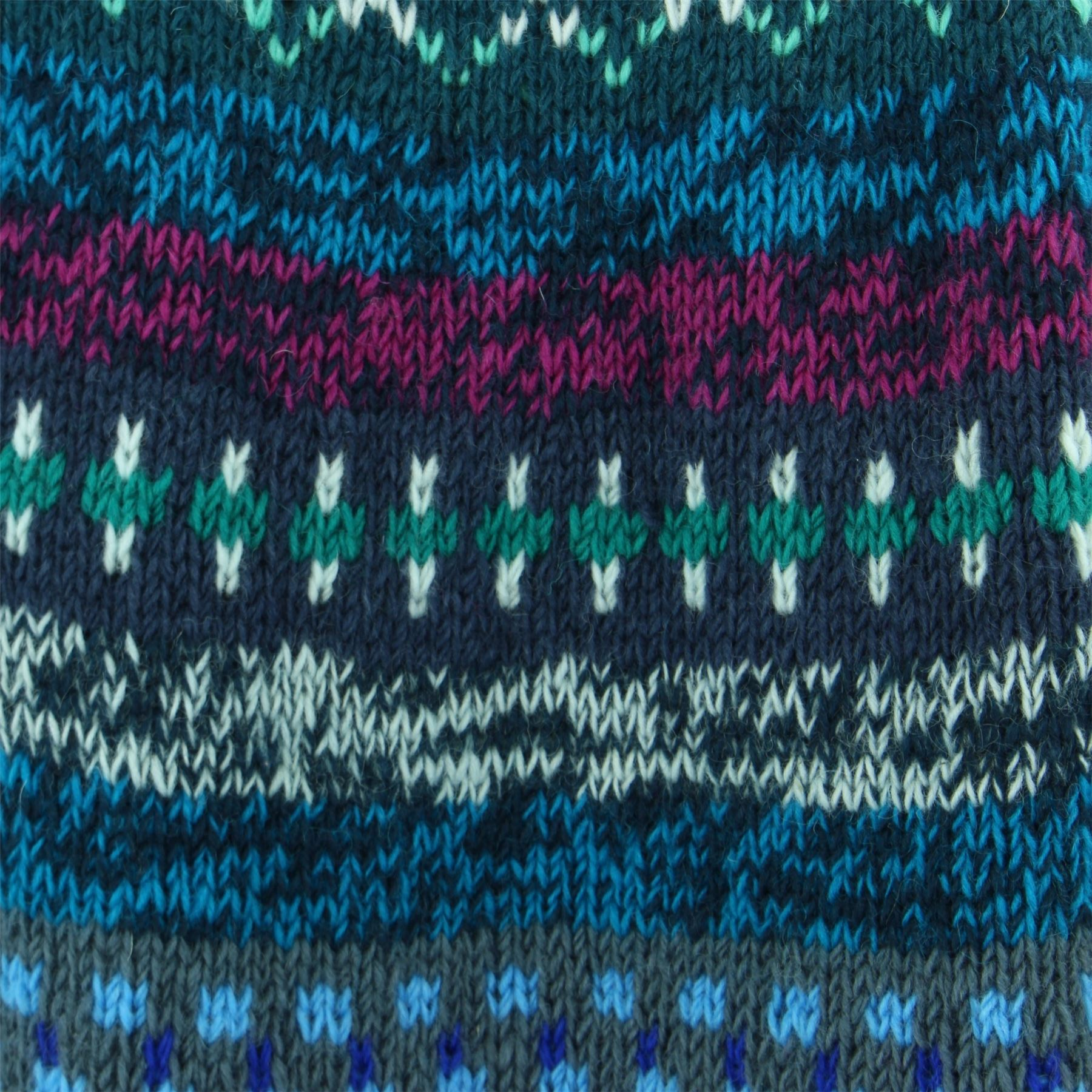 thumbnail 5 - Wool Knit Jumper Sweater Pullover Fairisle Nordic Abstract Warm Nepal Loose