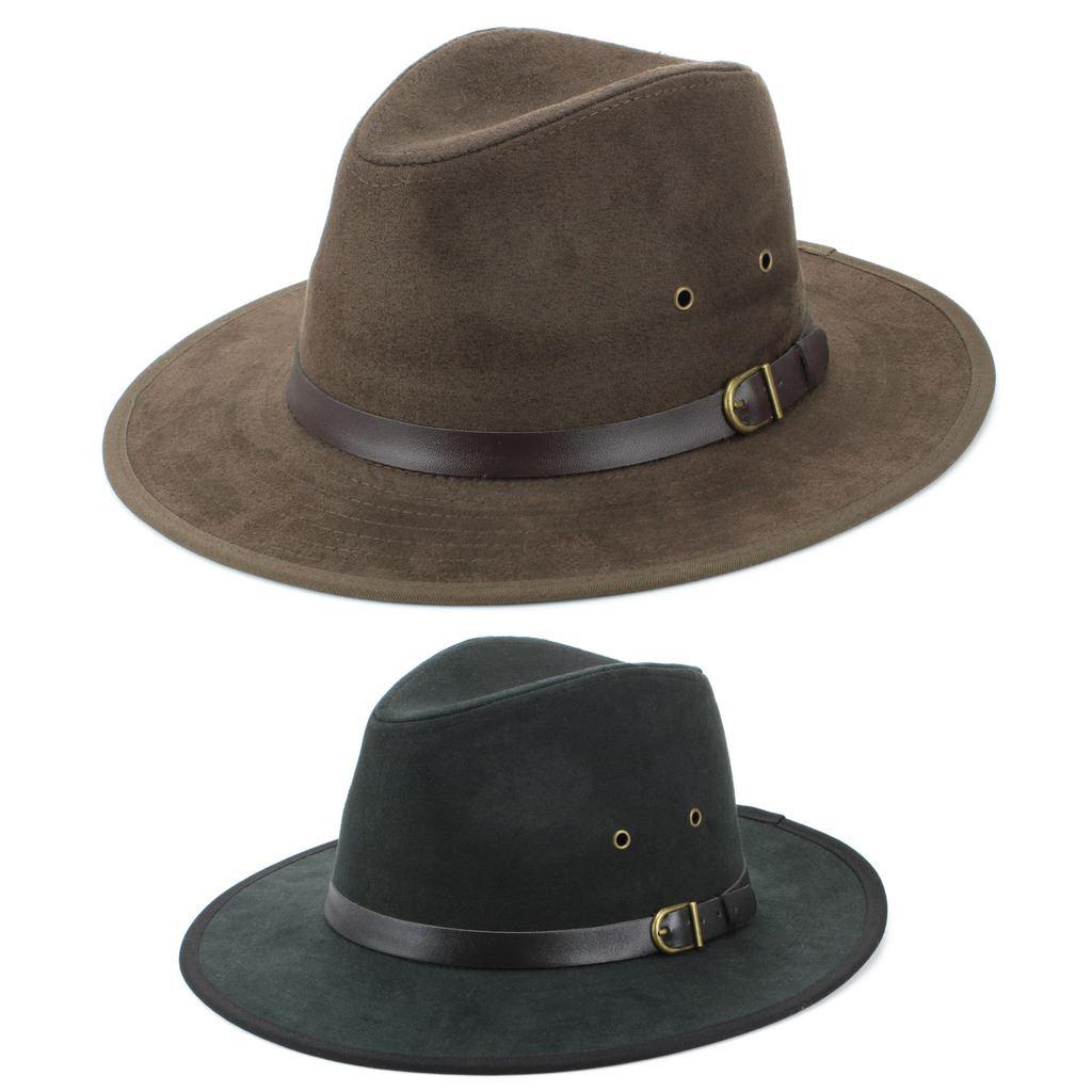 Details about Fedora Hat BLACK BROWN Hawkins Trilby Panama Mens Ladies  Travel Sun Summer c37dbc0acee