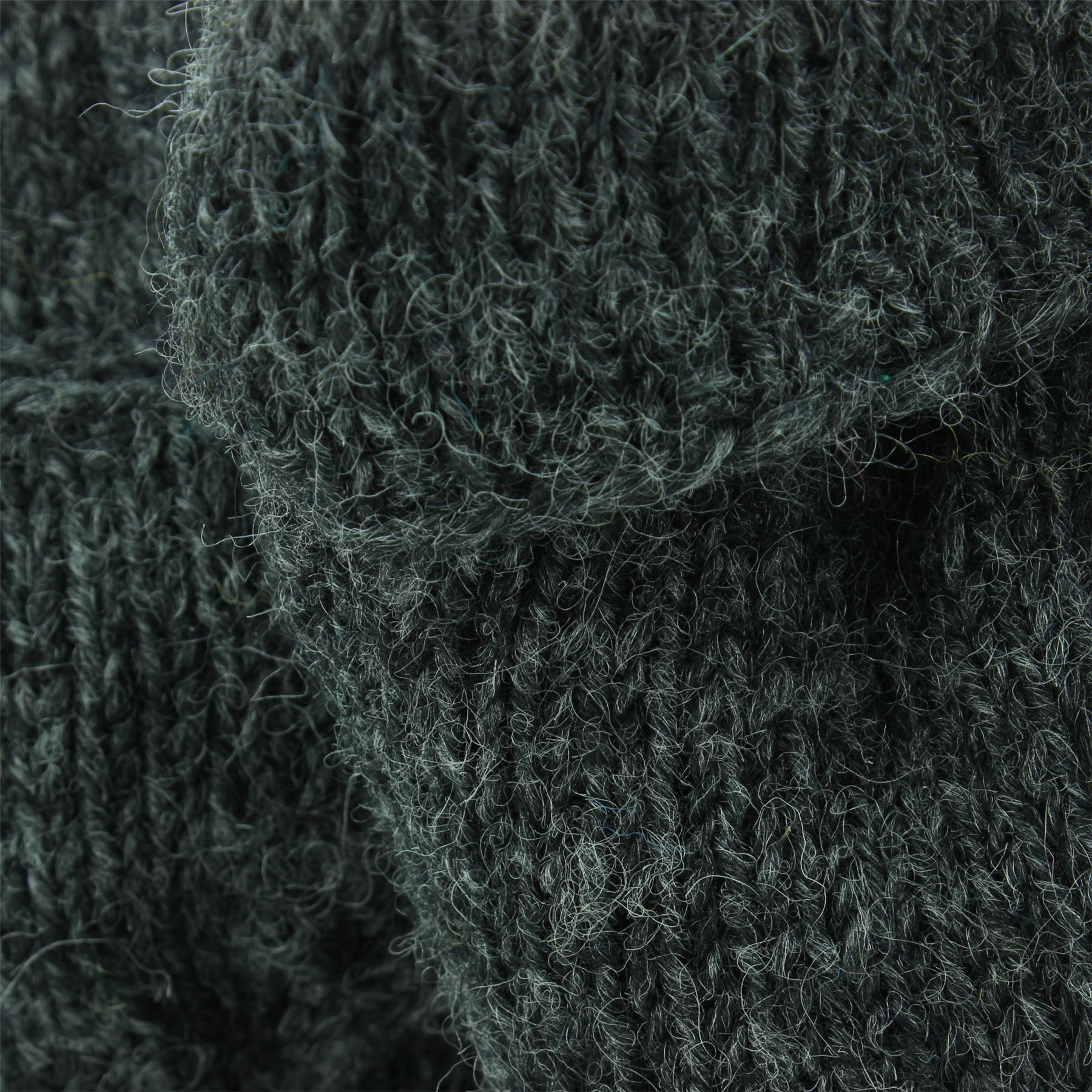 Wool-Gloves-Mittens-Fingerless-Shooter-Lined-PLAIN-Knit-Handmade-LoudElephant miniatura 5