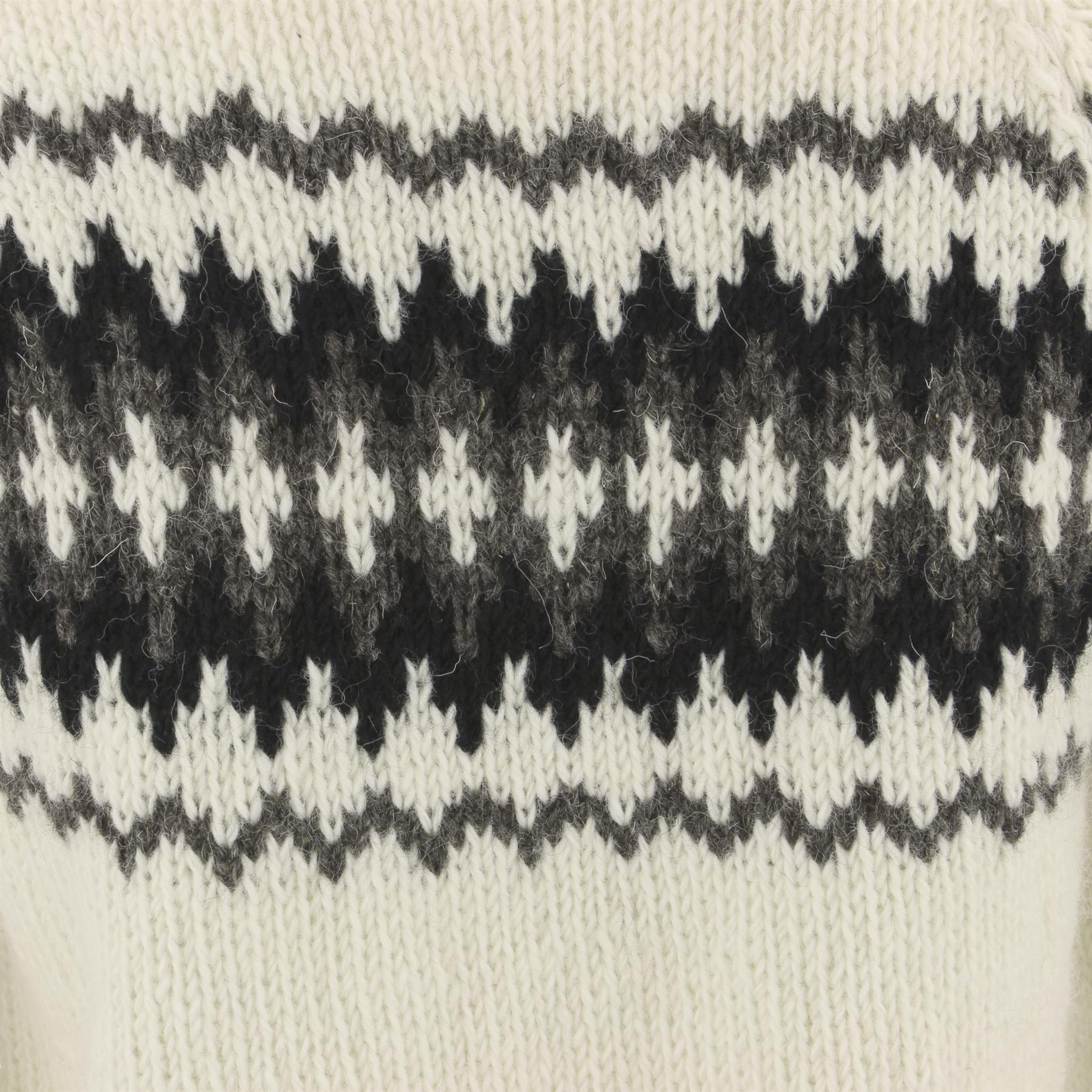 thumbnail 26 - Wool Knit Jumper Sweater Pullover Fairisle Nordic Abstract Warm Nepal Loose