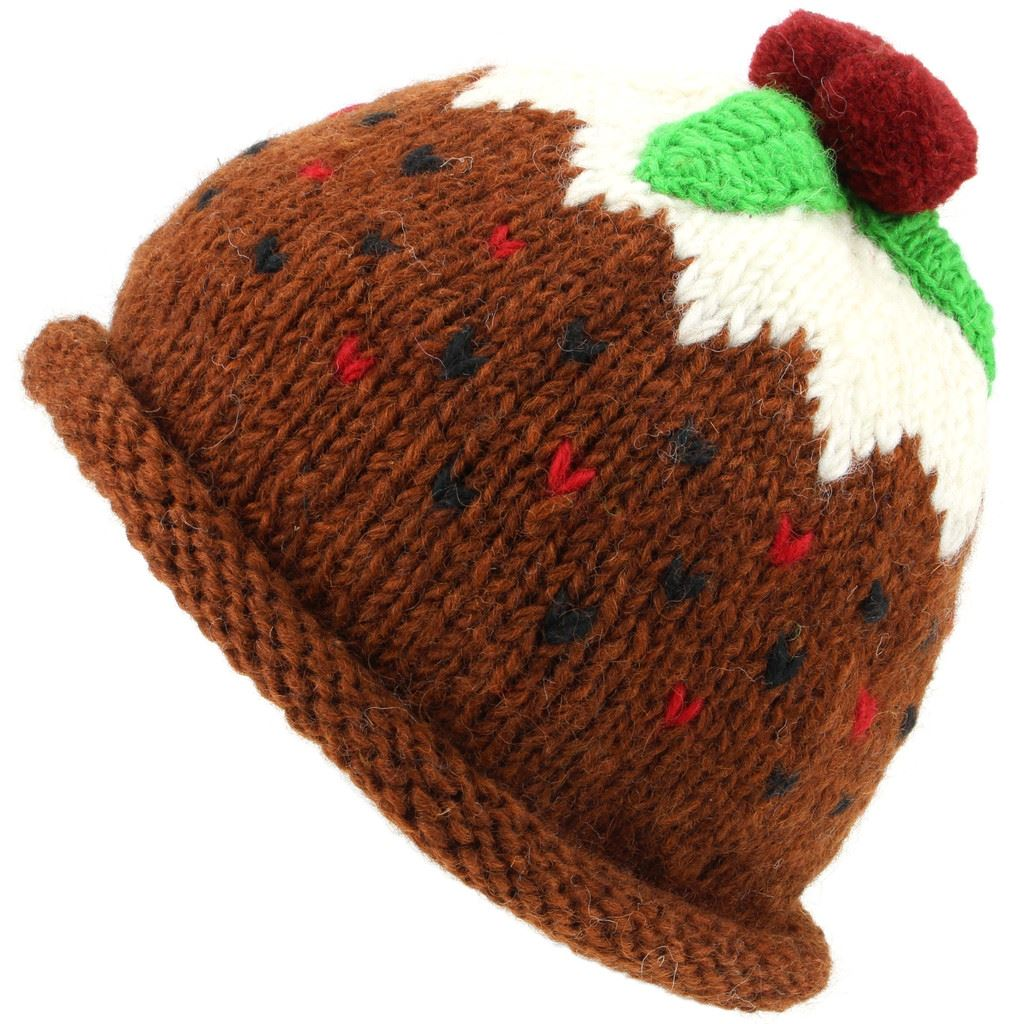 f6fb052a3fcb1 Details about Christmas Pudding Hat Wool Knit Knitted Xmas LoudElephant War  Winter Men Ladies
