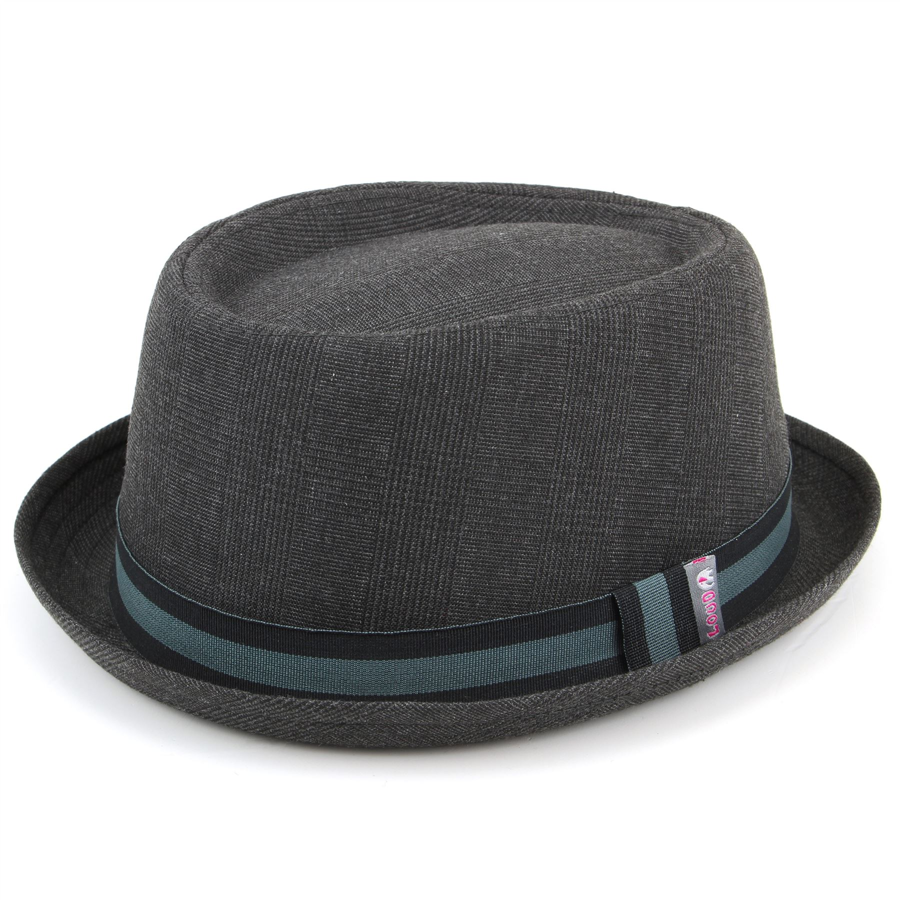 a65b080548a Details about Porkpie Pork Pie Hat Trilby Hawkins GREY Tweed Fedora Cap  Unisex