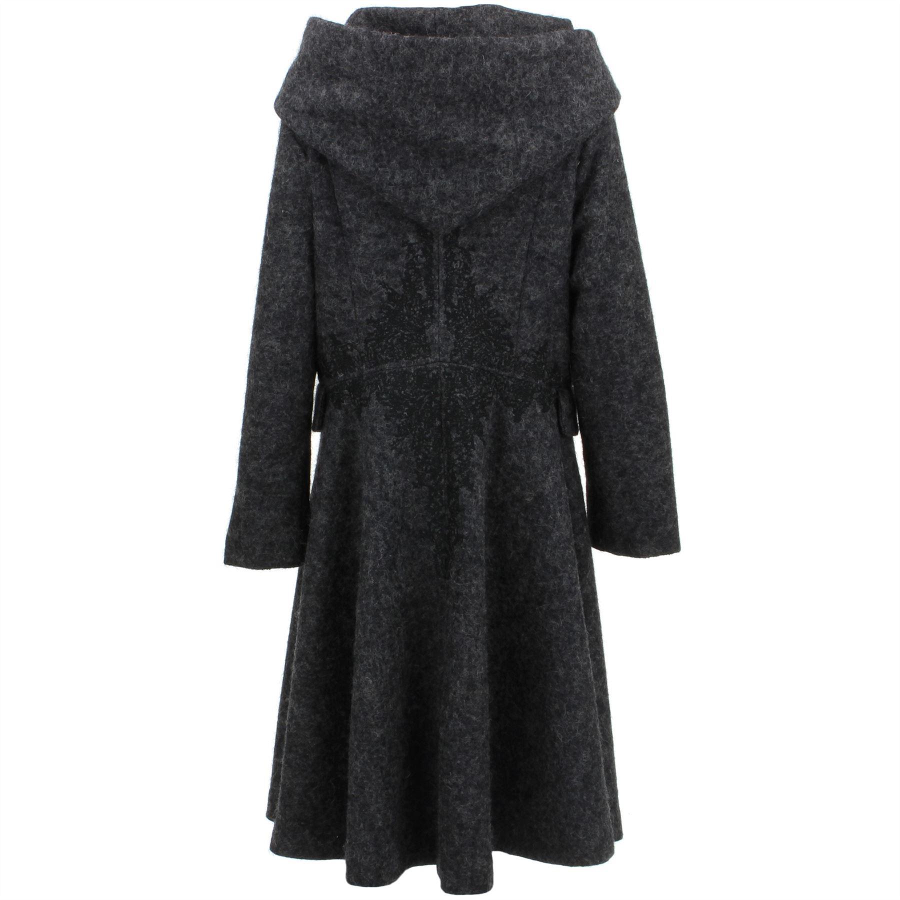 Ladies-Wool-Winter-Coat-Jacket-BOHEMIA-SWEDEN-Woven-Wool-rich-blend-Hood thumbnail 3
