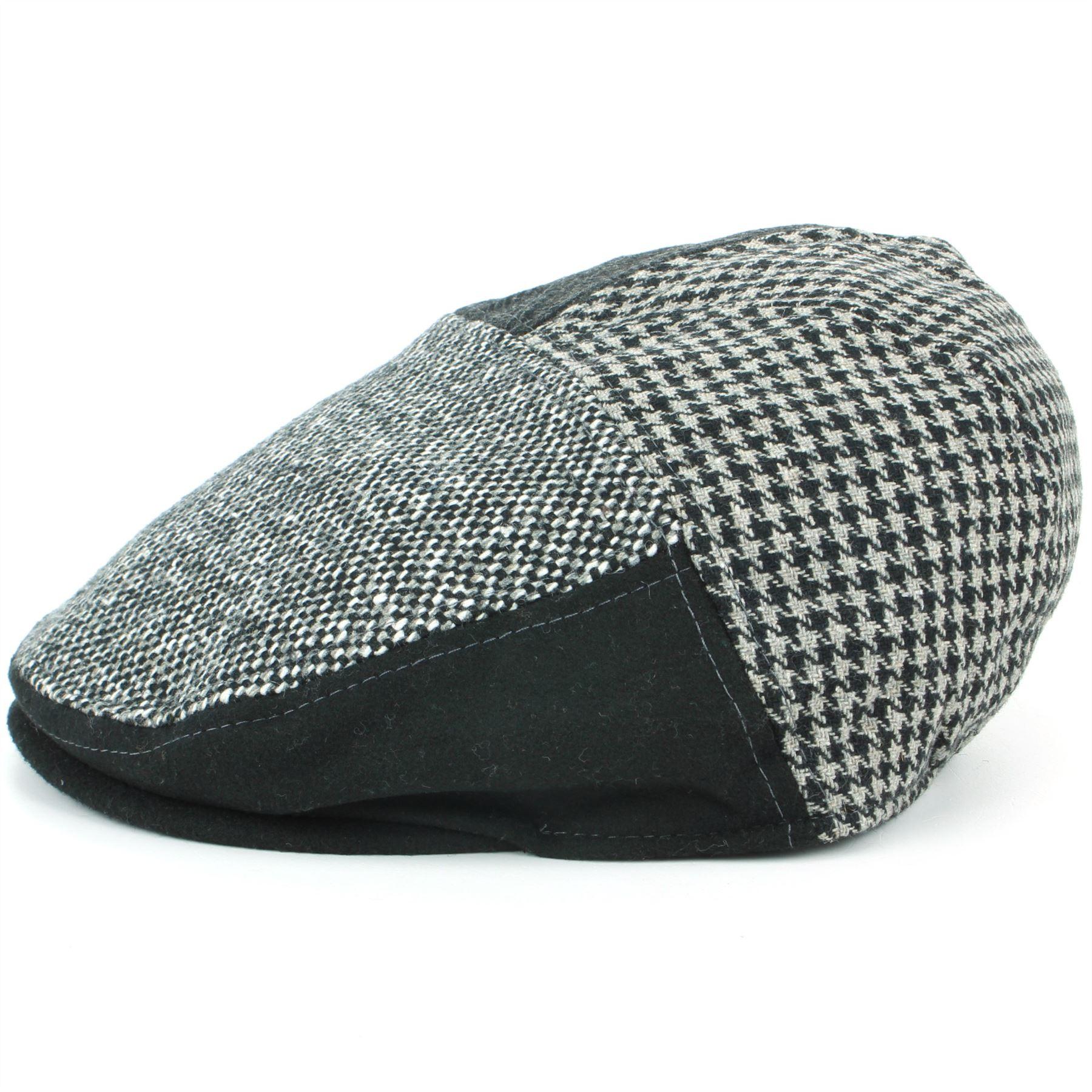 Hawkins Patchwork Tweed Flat Cap
