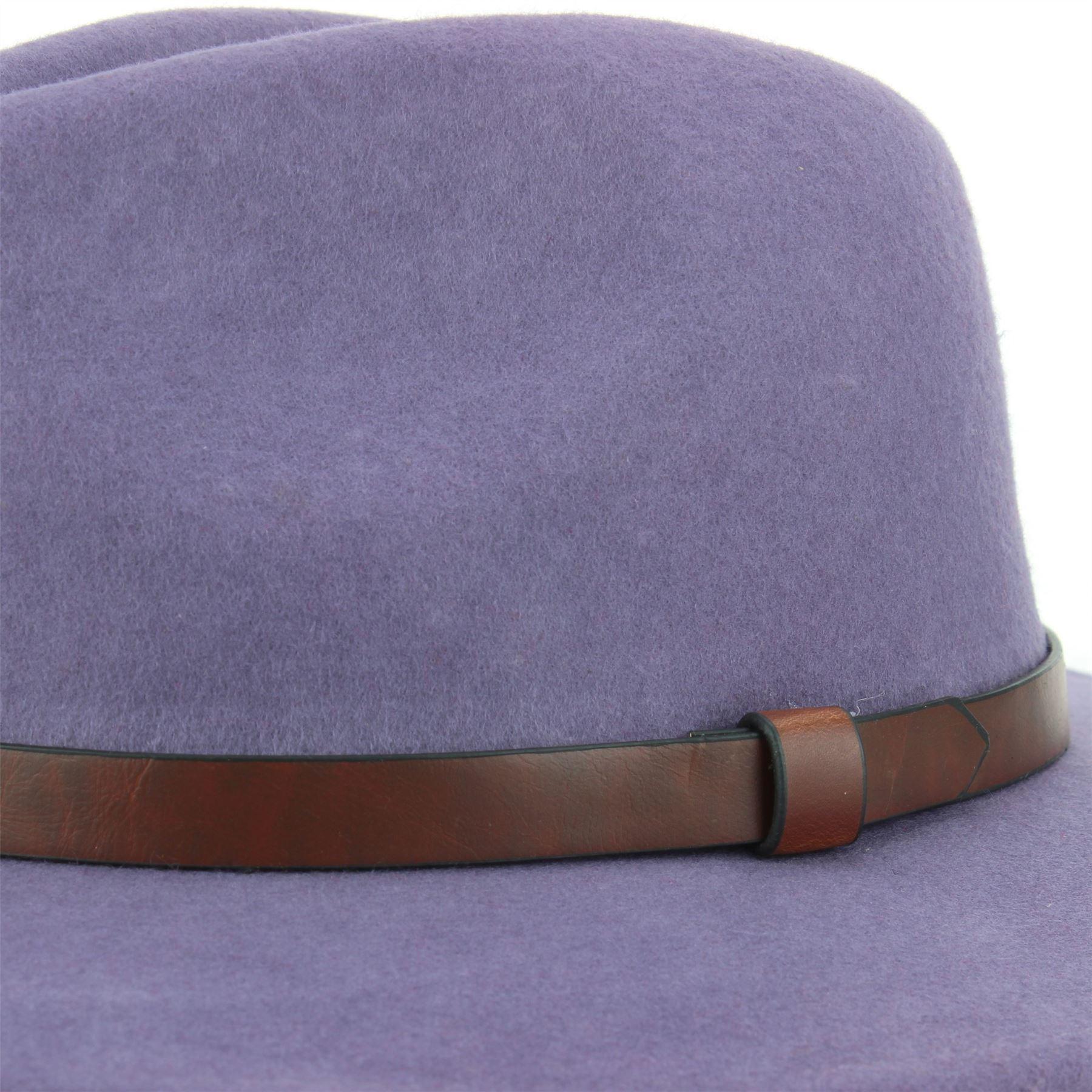 Fedora-Hat-Wool-Felt-Hawkins-Feather-Band-Trilby-Ladies-Men-Travel-Brim-Travel thumbnail 9