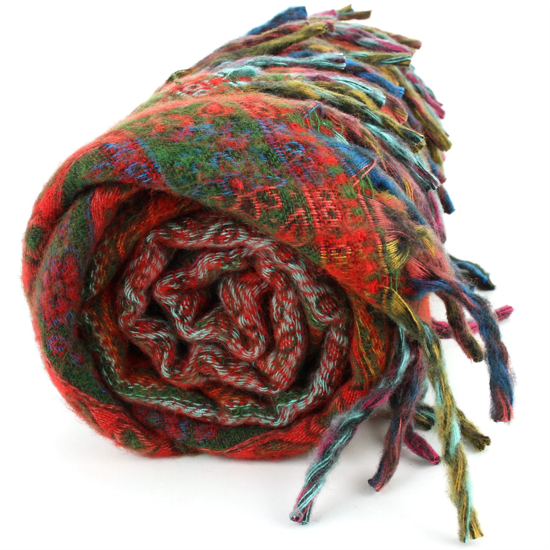 Acrylic-Wool-Blanket-Shawl-Wrap-Throw-Finest-Softest-India-Stripe-Paisley-Travel thumbnail 40